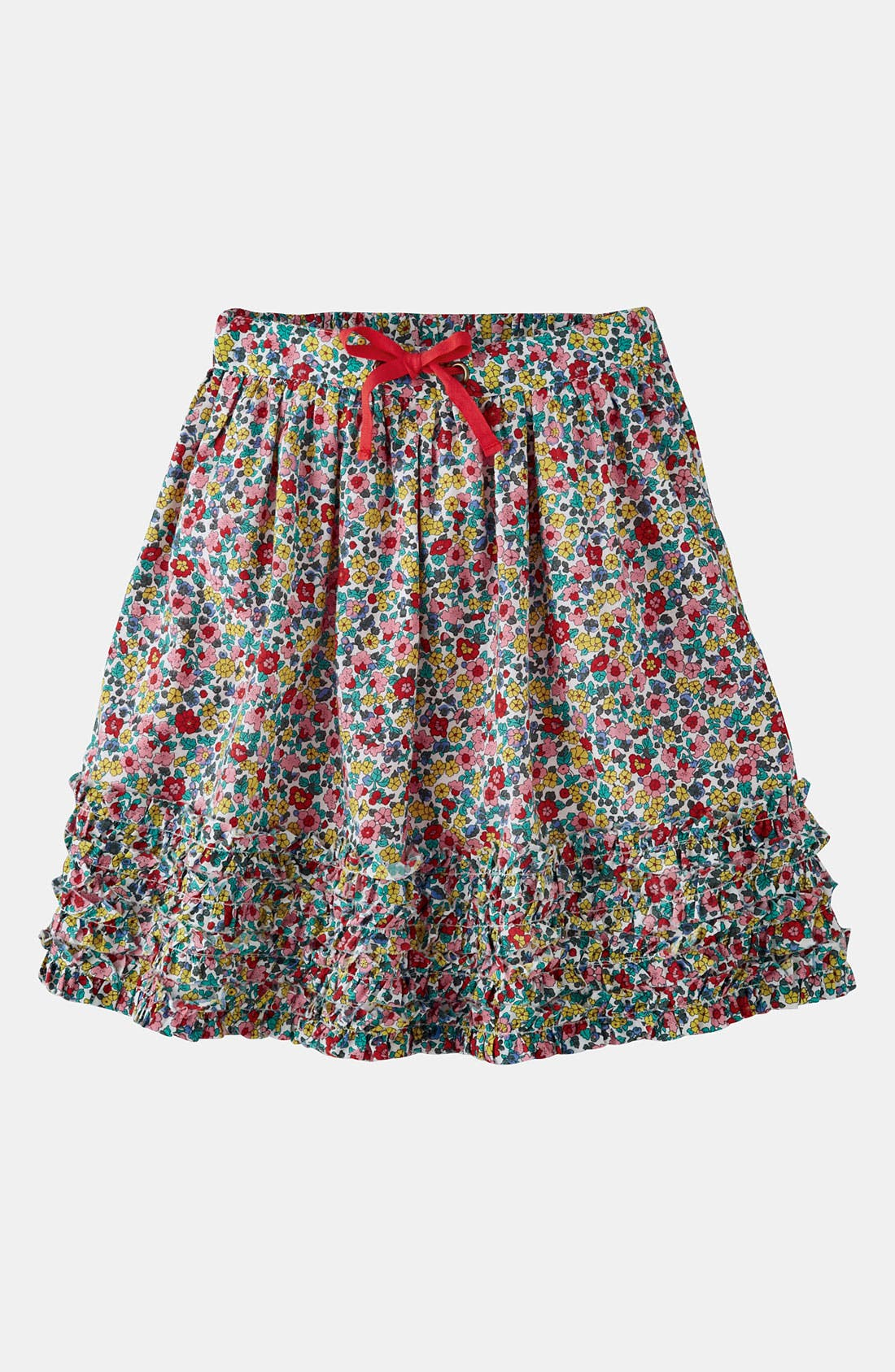 Main Image - Mini Boden Ruffle Hem Skirt (Little Girls & Big Girls)