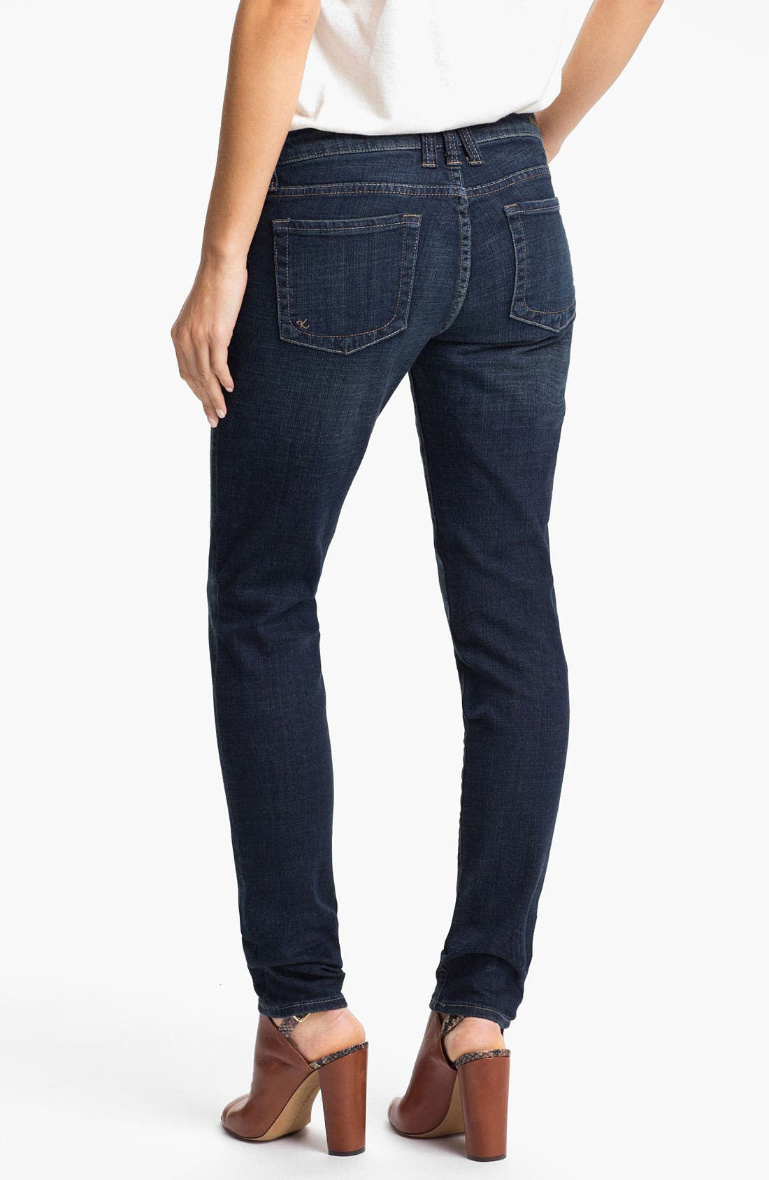 Alternate Image 2  - KUT from the Kloth 'Mia' Toothpick Jeans (Natural)