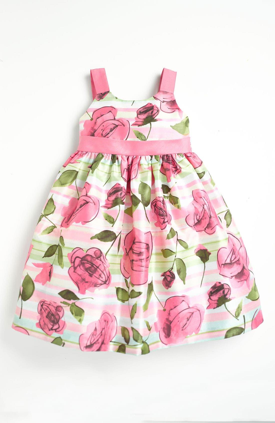 Alternate Image 1 Selected - Pippa & Julie Rose Print Dress (Toddler)