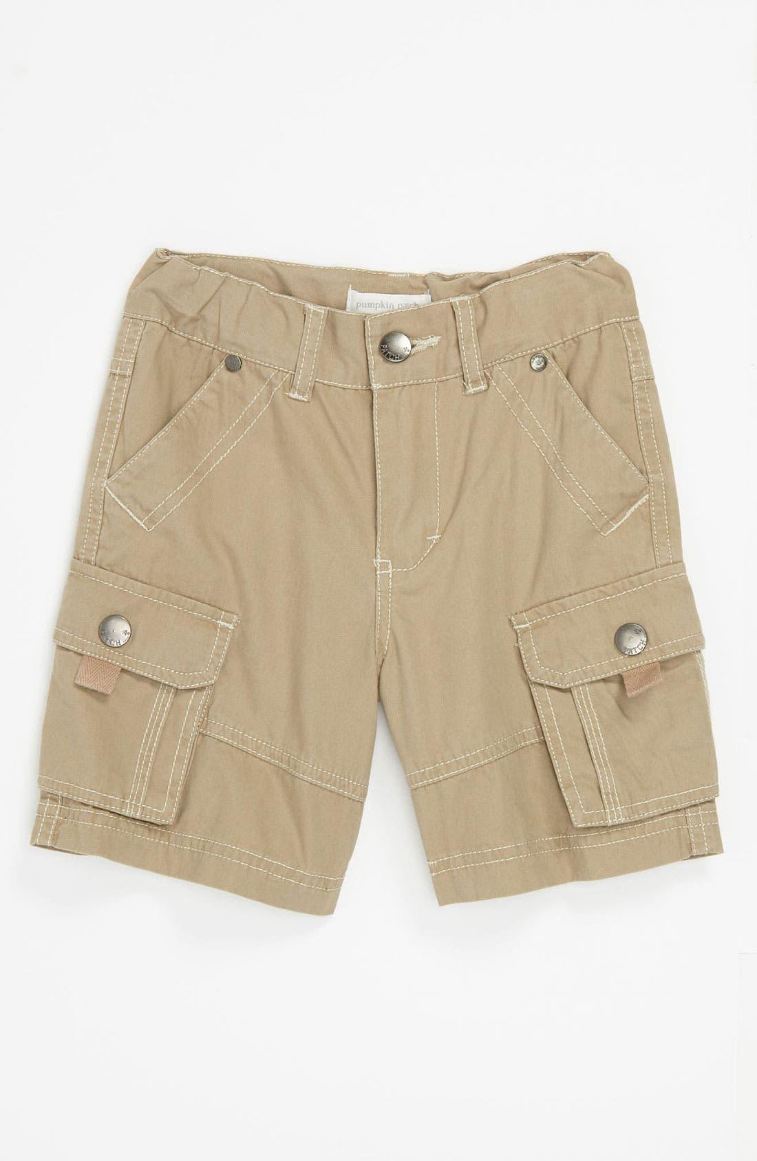 Main Image - Pumpkin Patch Canvas Cargo Shorts (Infant)