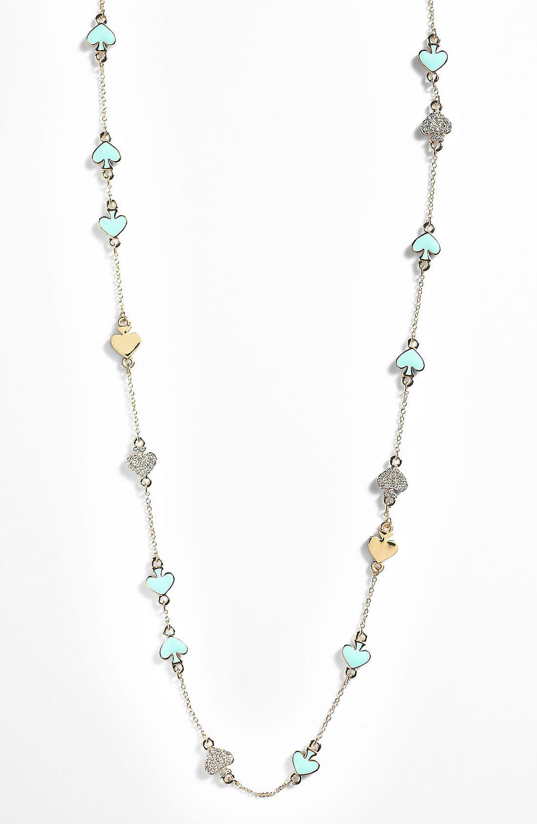 Main Image - kate spade new york 'spade to spade' long station necklace
