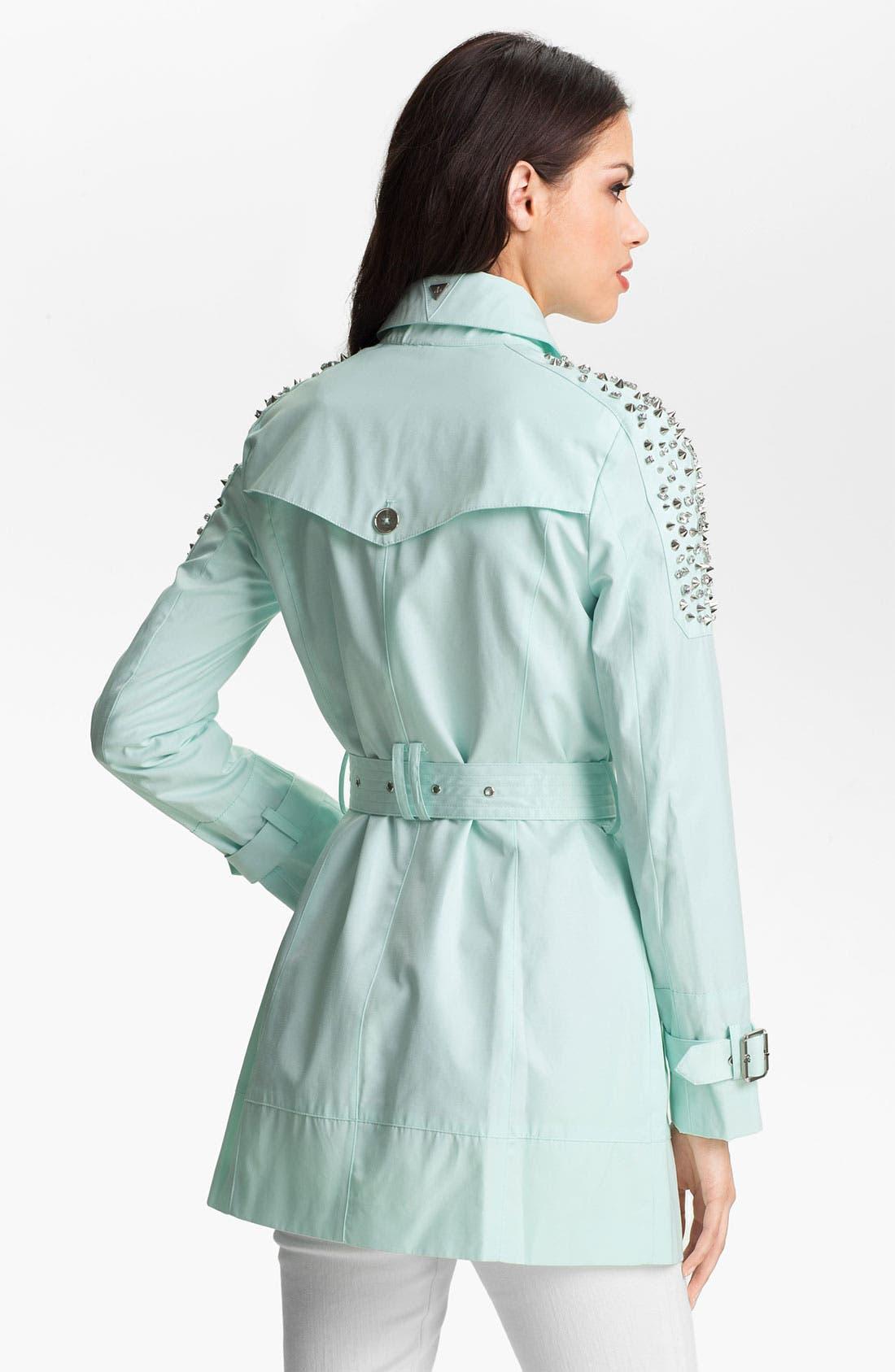 Alternate Image 2  - Sam Edelman Embellished Shoulder Trench Coat (Online Only)