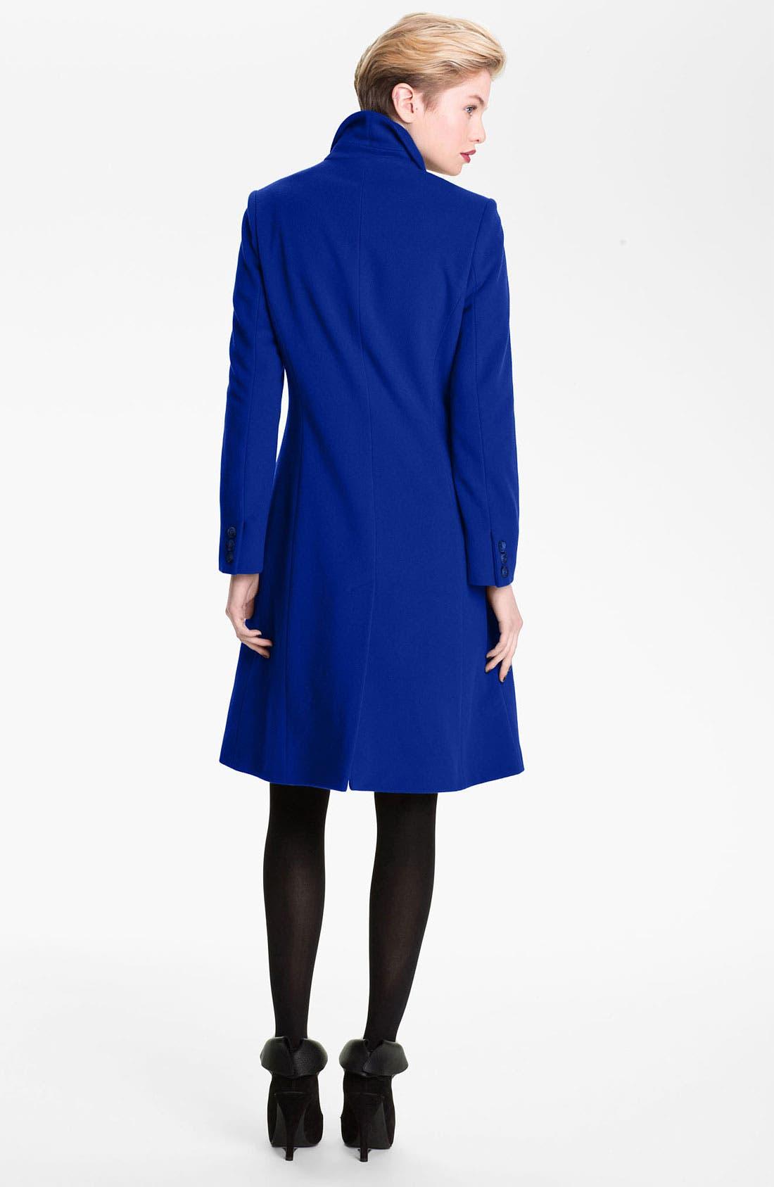 Alternate Image 2  - Helene Berman Single Breasted Reefer Coat