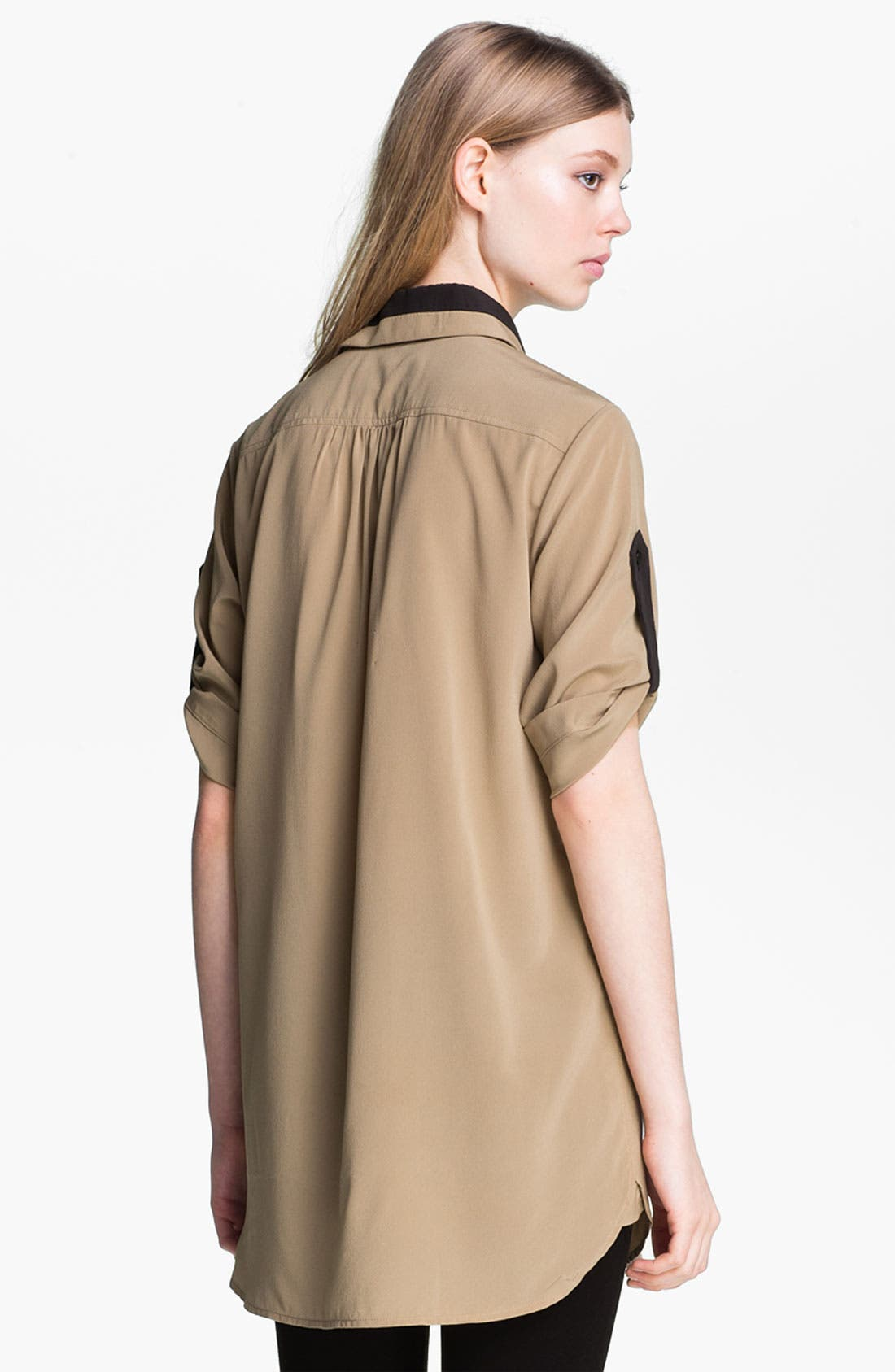 Alternate Image 3  - rag & bone 'Midnight' Tab Sleeve Silk Shirt