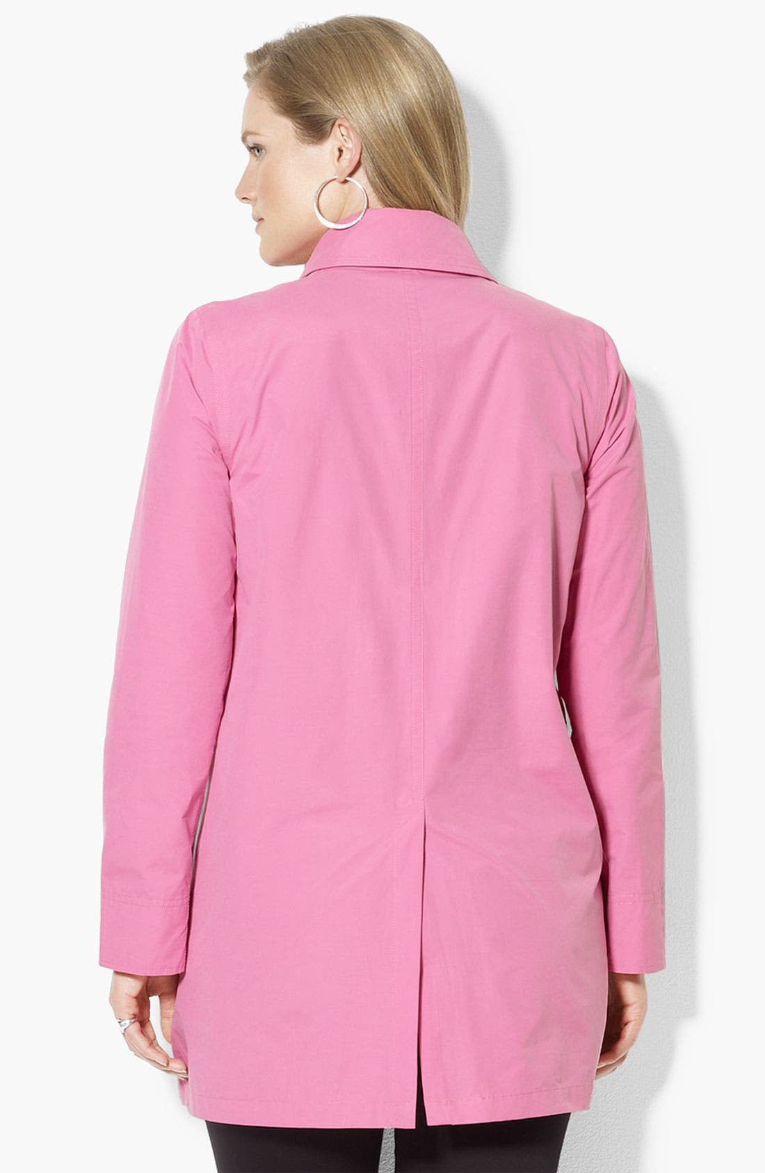 Alternate Image 2  - Lauren Ralph Lauren Stand Collar Jacket (Plus)