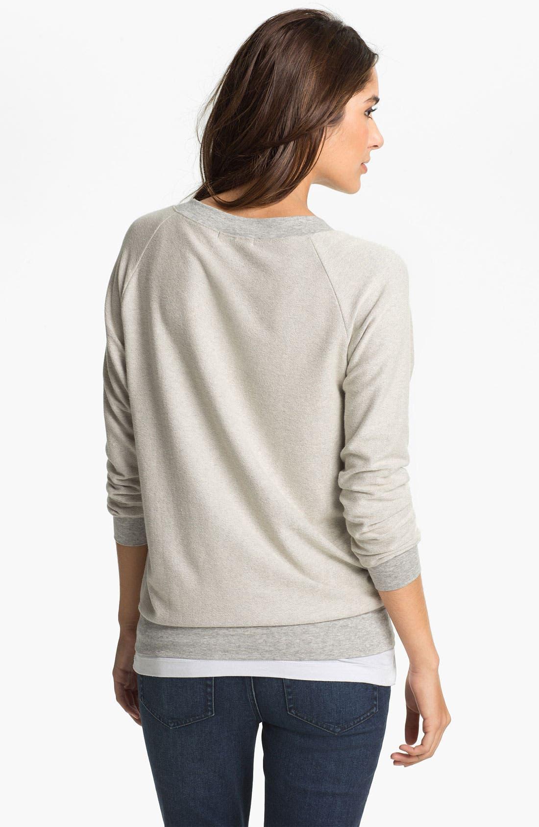 Alternate Image 2  - Cielo 'Inside Out' V-Neck Sweatshirt