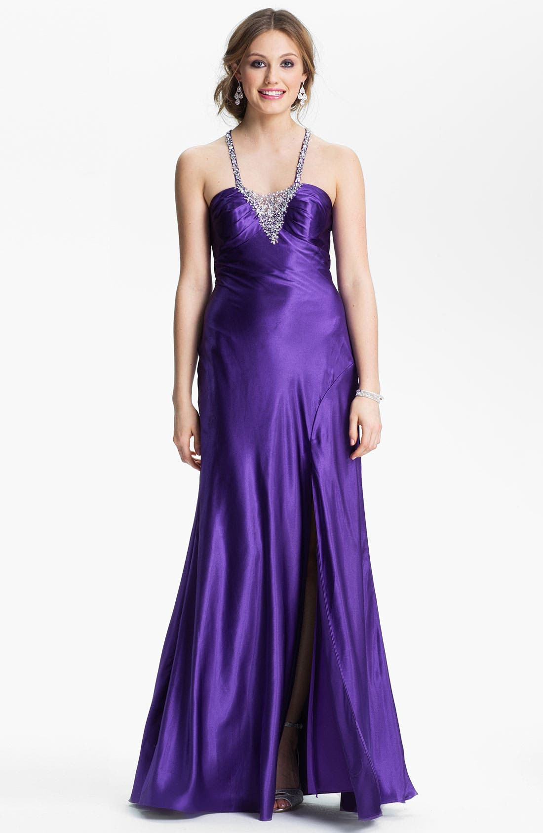 Alternate Image 1 Selected - Sean Collection Embellished Satin Gown