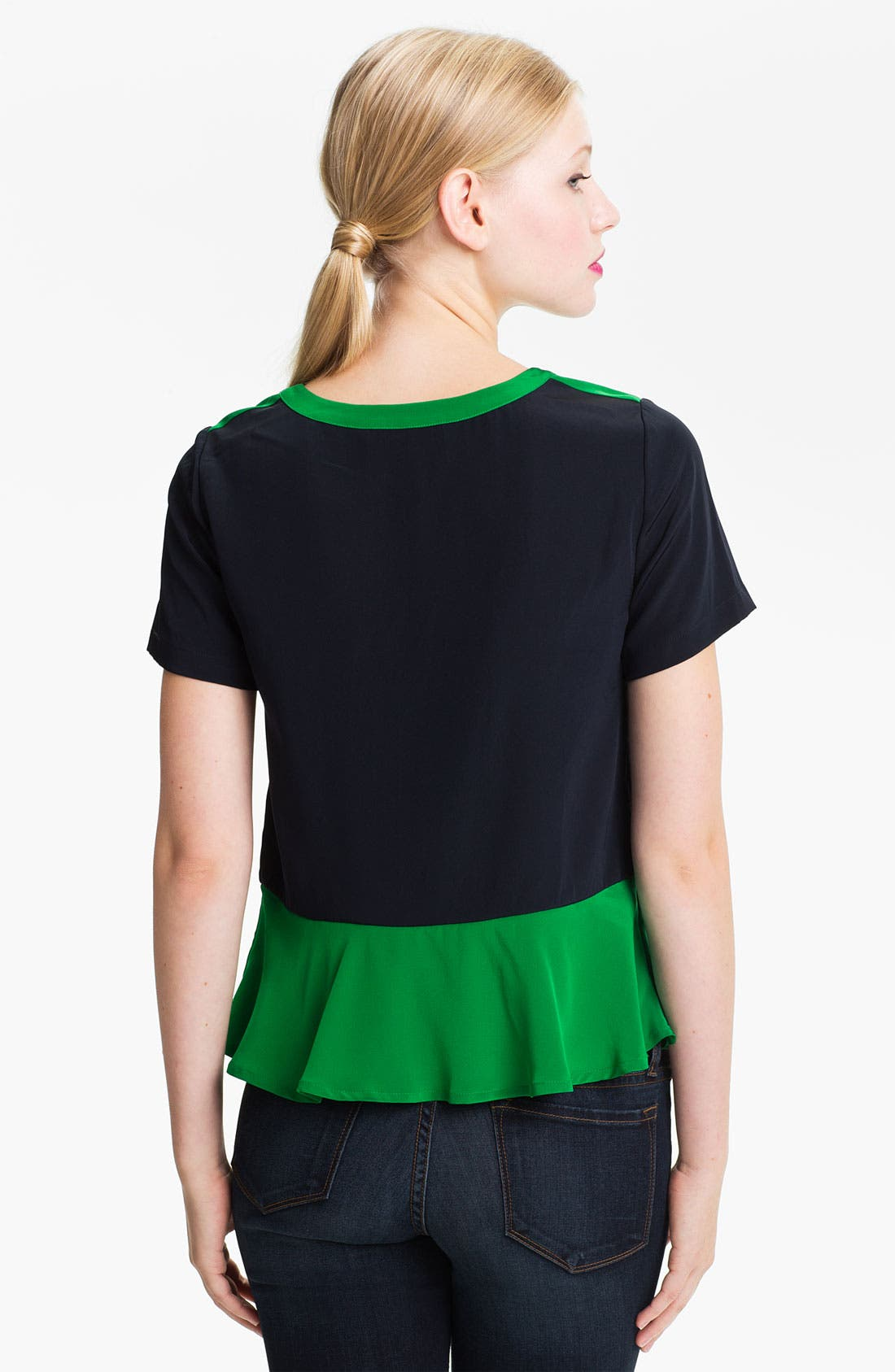 Alternate Image 2  - MARC BY MARC JACOBS 'Avery' Colorblock Silk Peplum Top