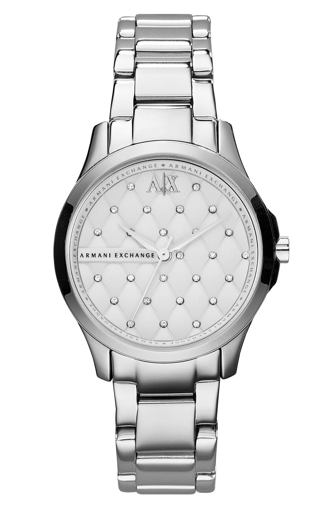 Alternate Image 1 Selected - AX Armani Exchange Quilted Dial Bracelet Watch, 36mm (Online Only)