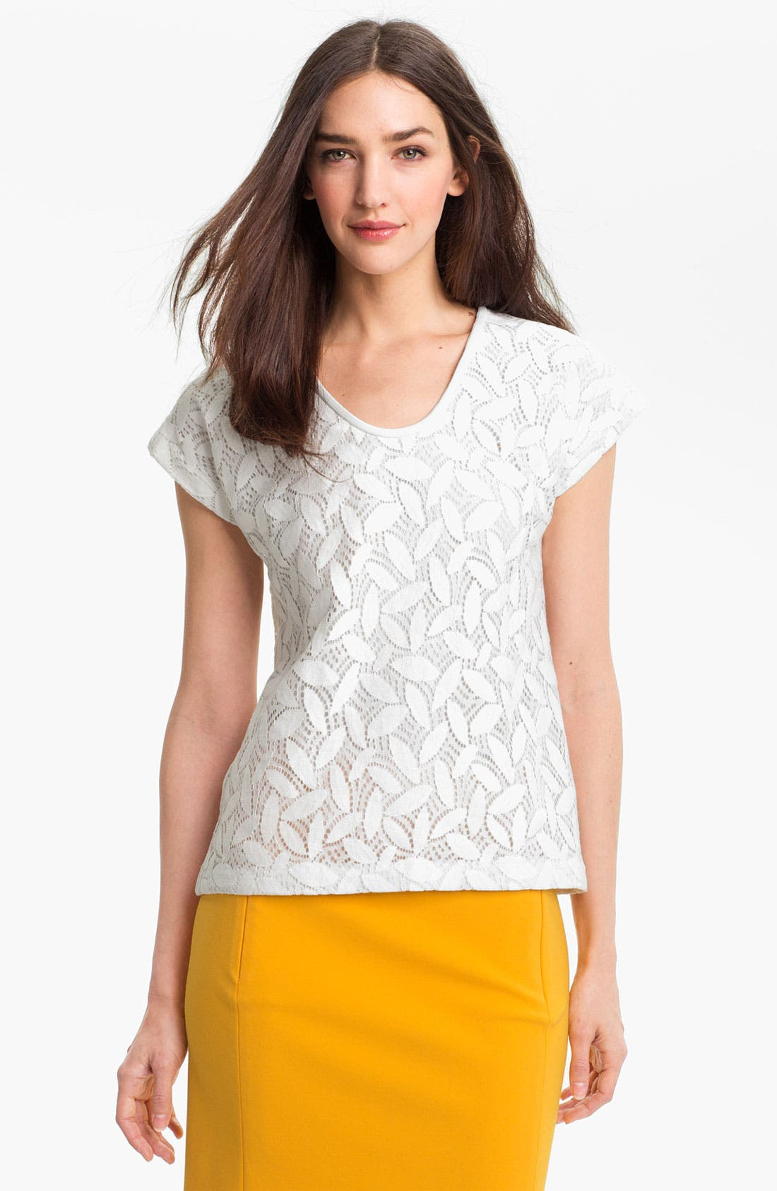 Alternate Image 1 Selected - Diane von Furstenberg 'Acedia' Lace Tee