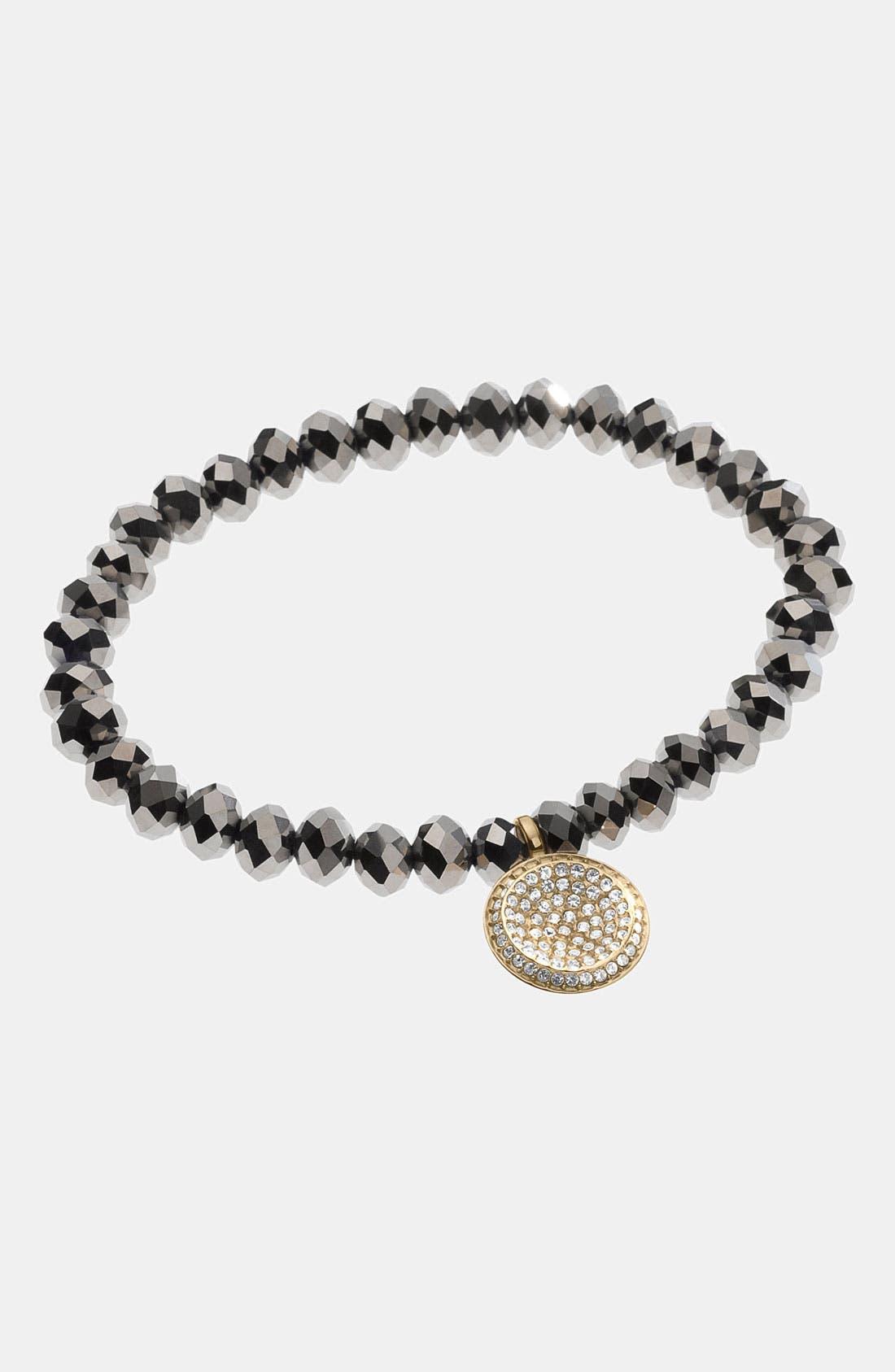 Alternate Image 2  - Michael Kors 'Brilliance' Charm Bead Stretch Bracelet