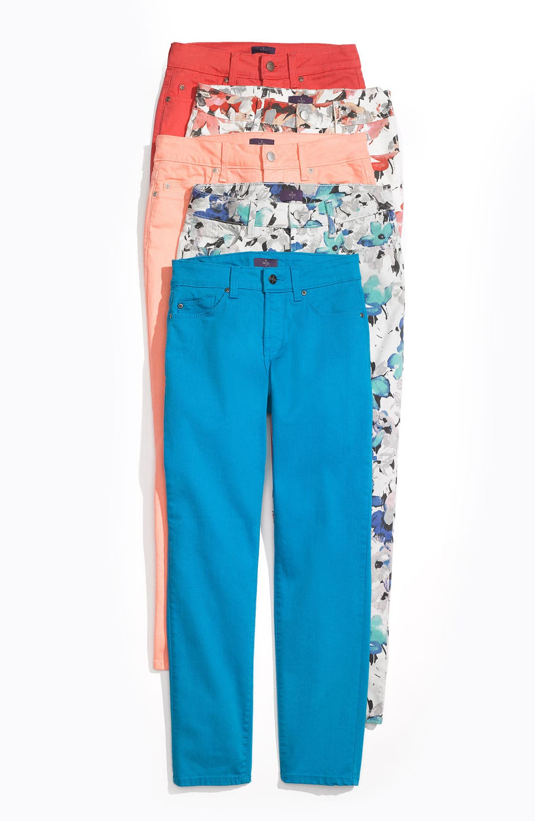 Alternate Image 4  - NYDJ 'Alisha' Floral Print Skinny Stretch Ankle Jeans