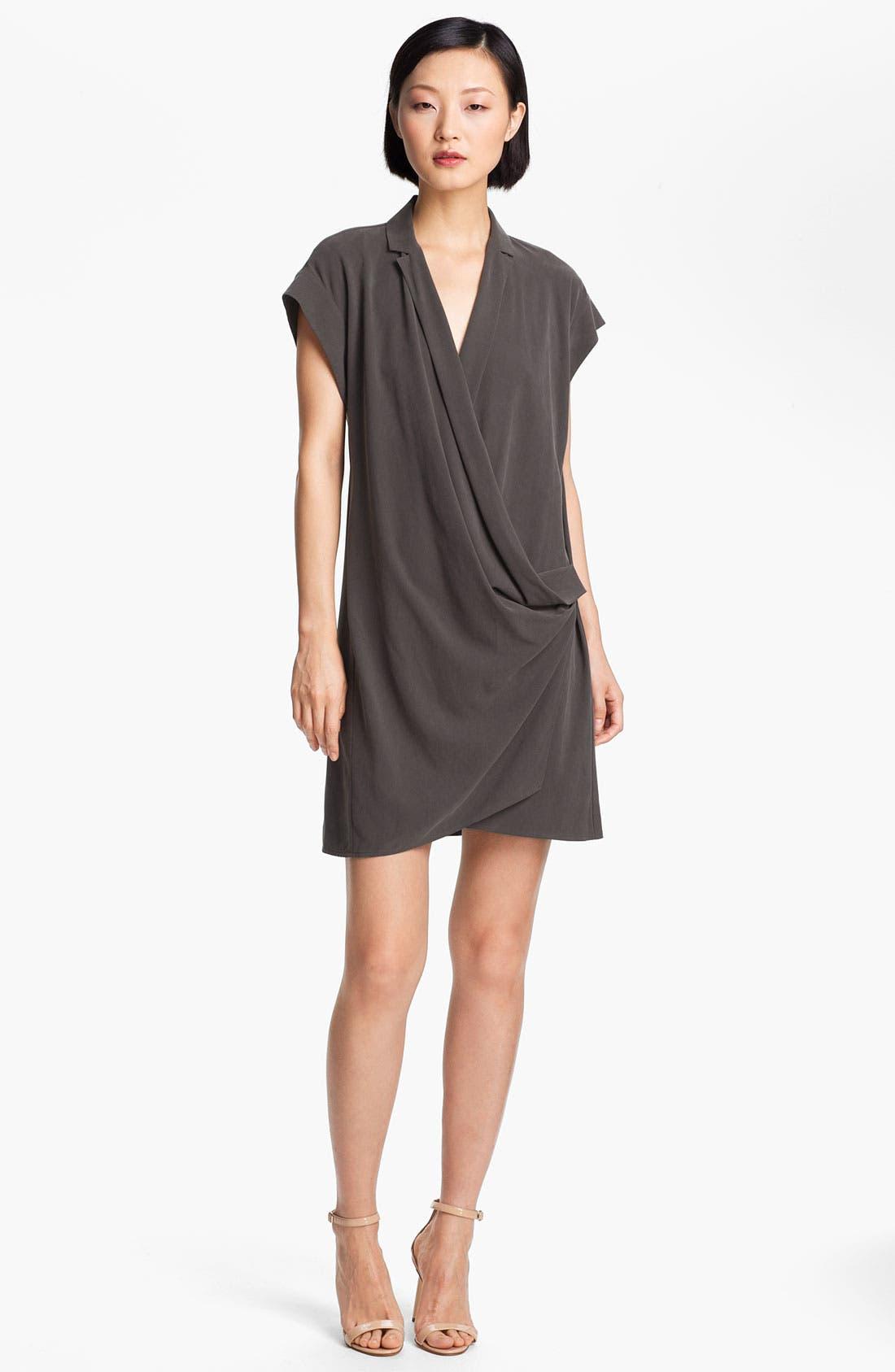 Main Image - Halston Heritage Wrap Front Silk Dress