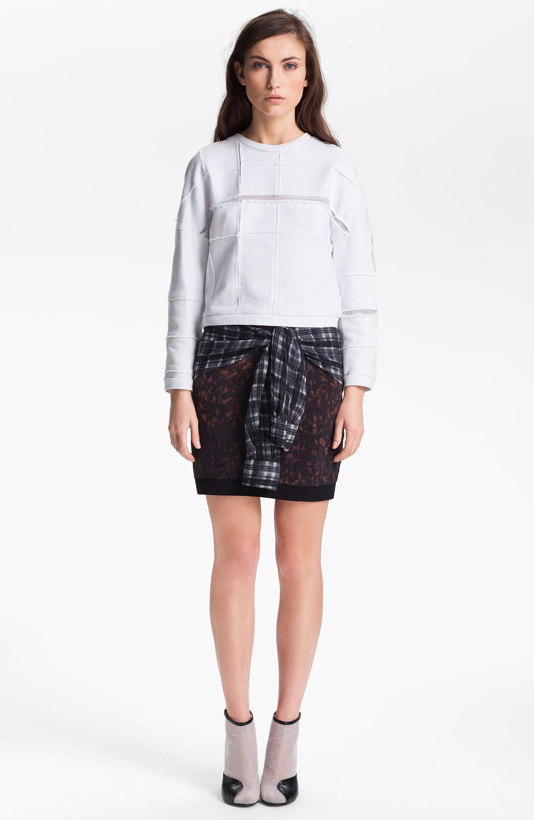 Alternate Image 1 Selected - 3.1 Phillip Lim 'Cut Up' Plaid Sweatshirt
