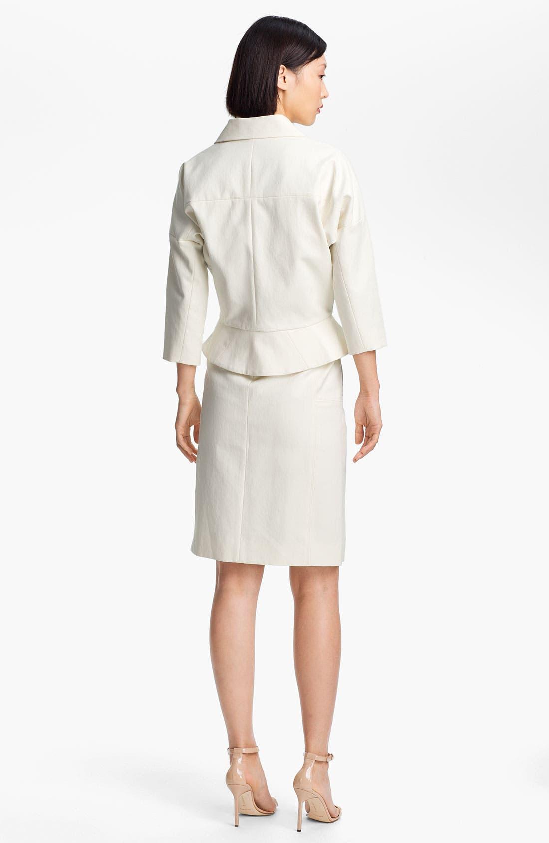 Alternate Image 4  - Halston Heritage Leather Detail Cotton Jacket
