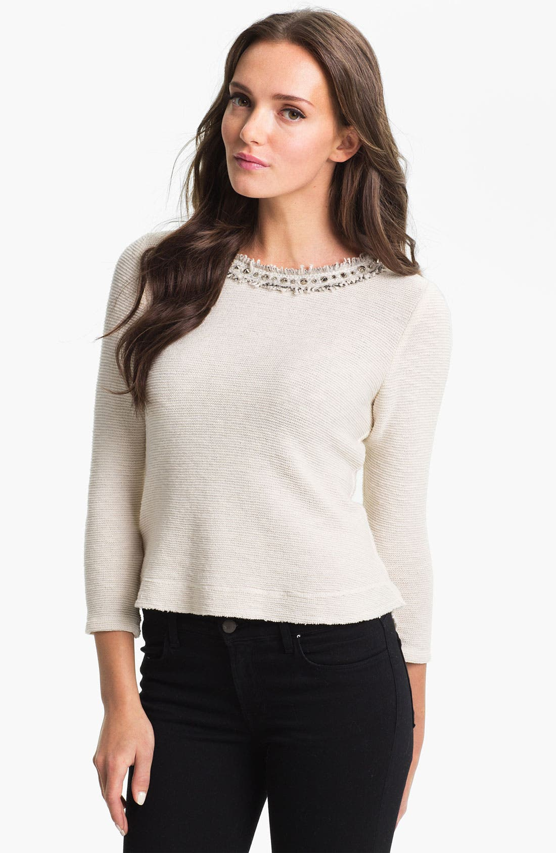 Alternate Image 1 Selected - Rebecca Taylor Embellished Top