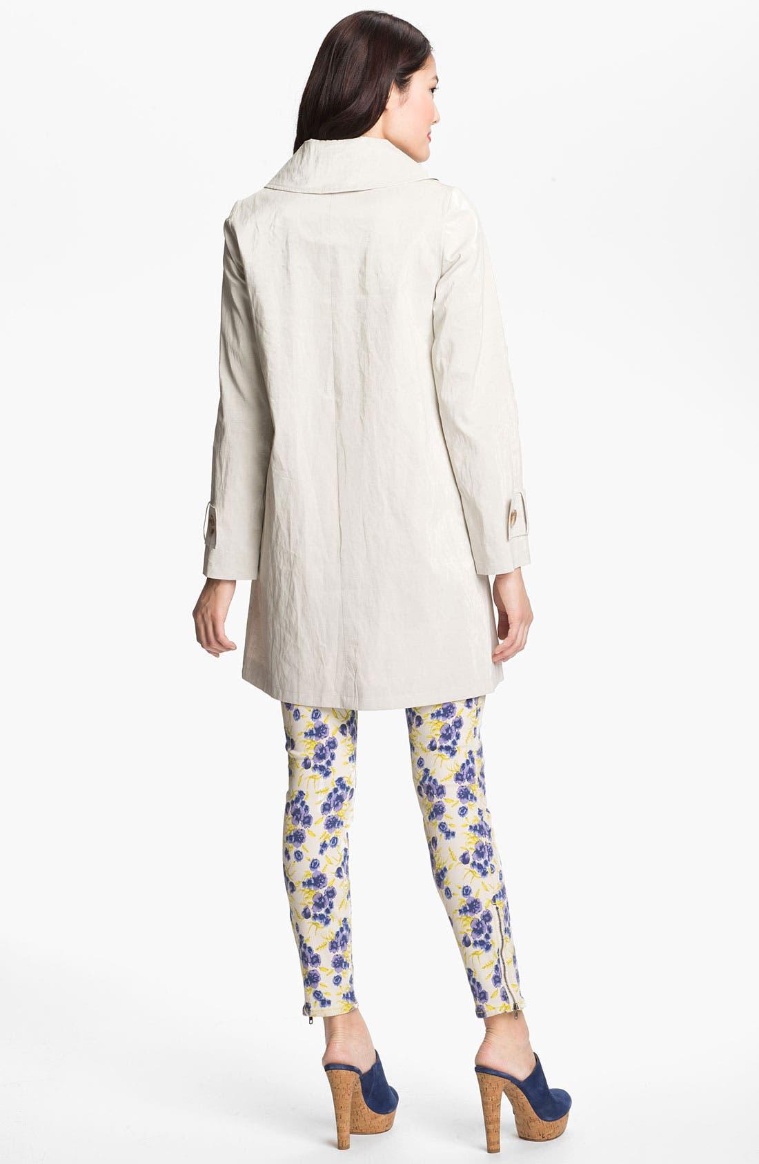 Alternate Image 3  - Helene Berman 'Mod' Coated Linen Blend Coat
