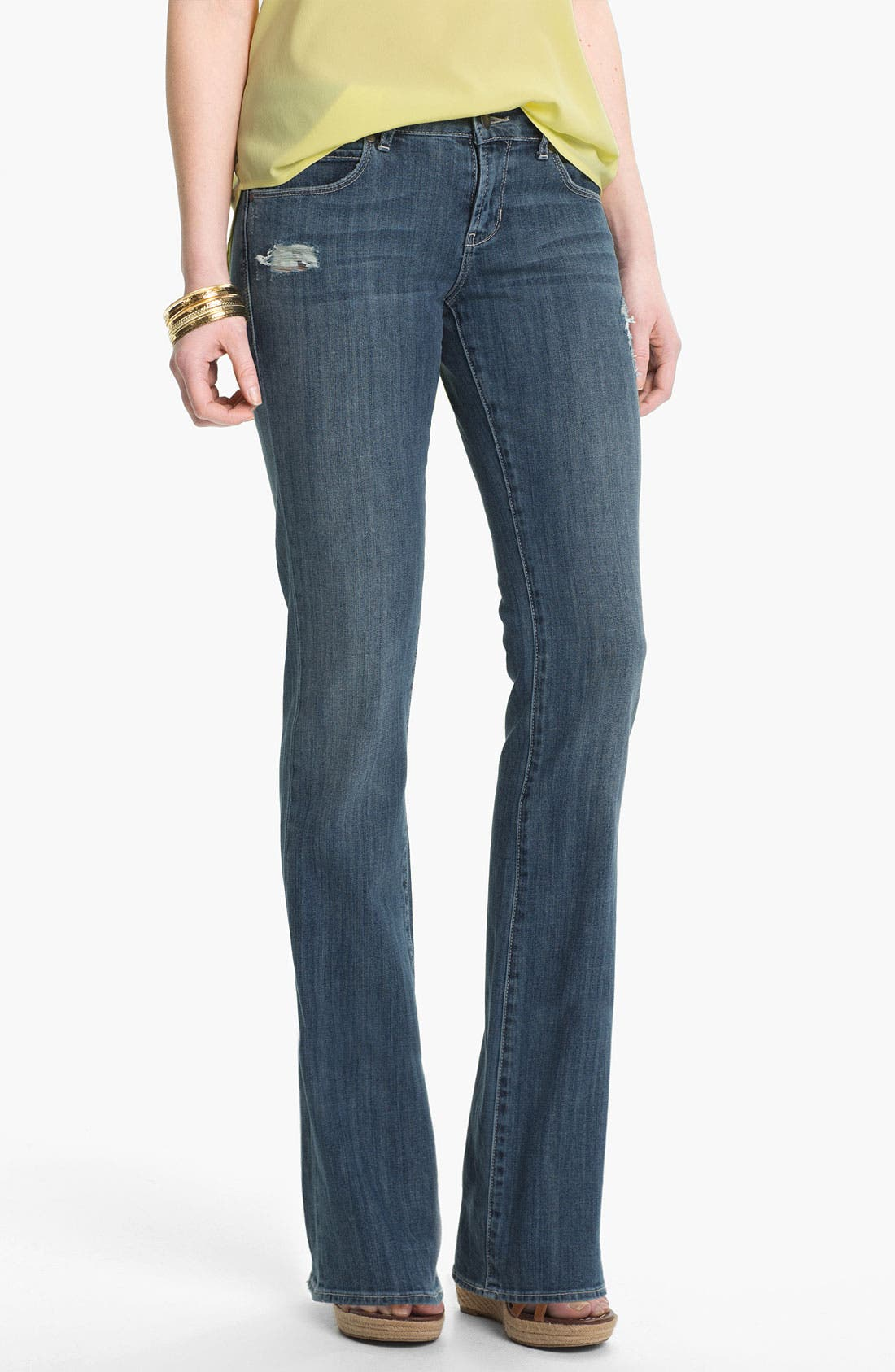 Main Image - Articles of Society 'Kendra' Bootcut Jeans (Worn) (Juniors)