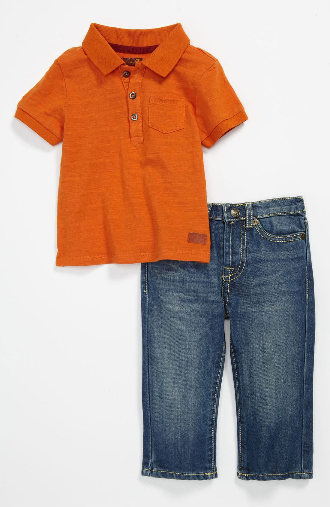 Alternate Image 1 Selected - 7 For All Mankind® Polo & Jeans (Infant)