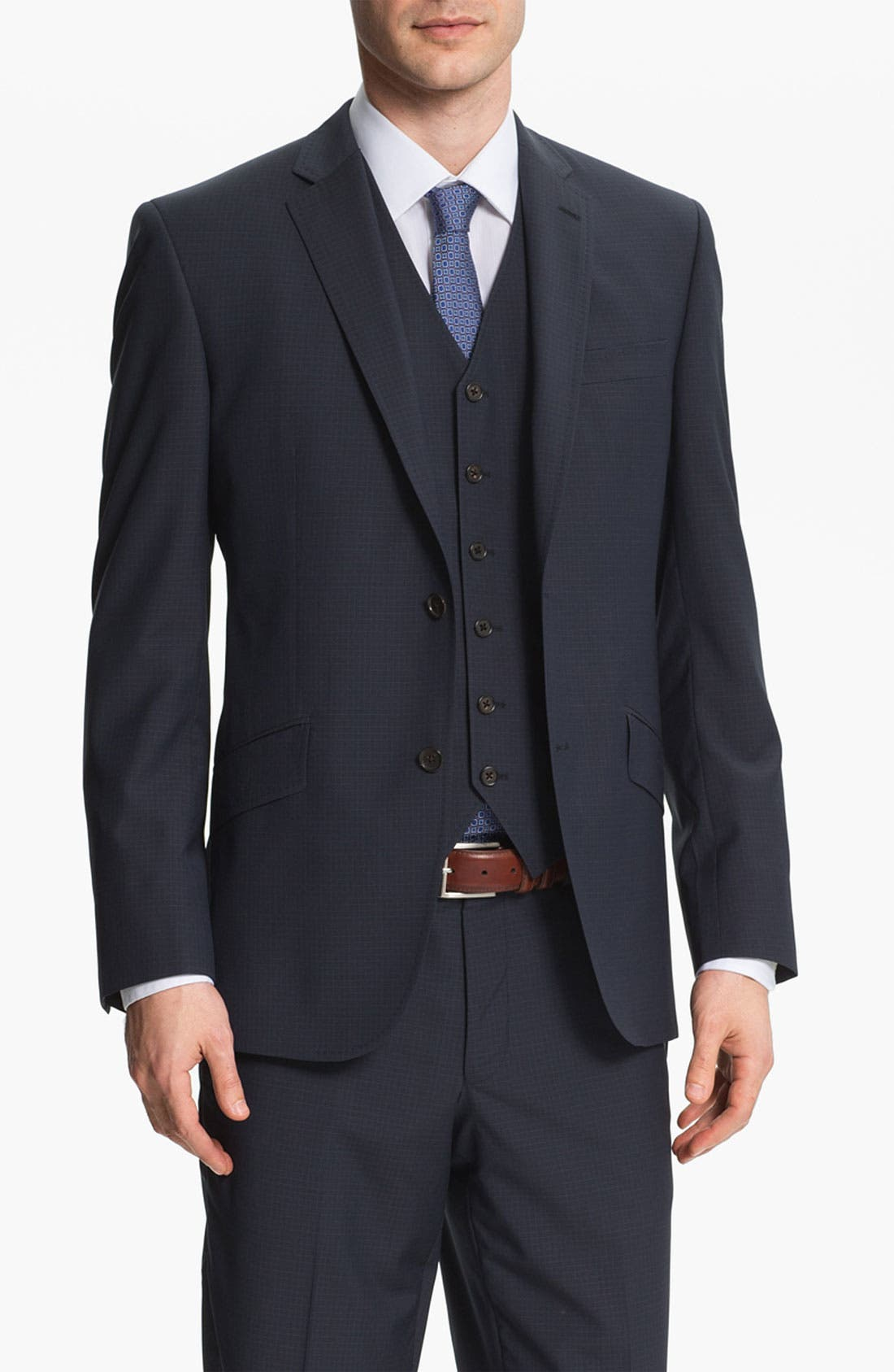 Alternate Image 1 Selected - Ted Baker London Trim Fit Three Piece Suit