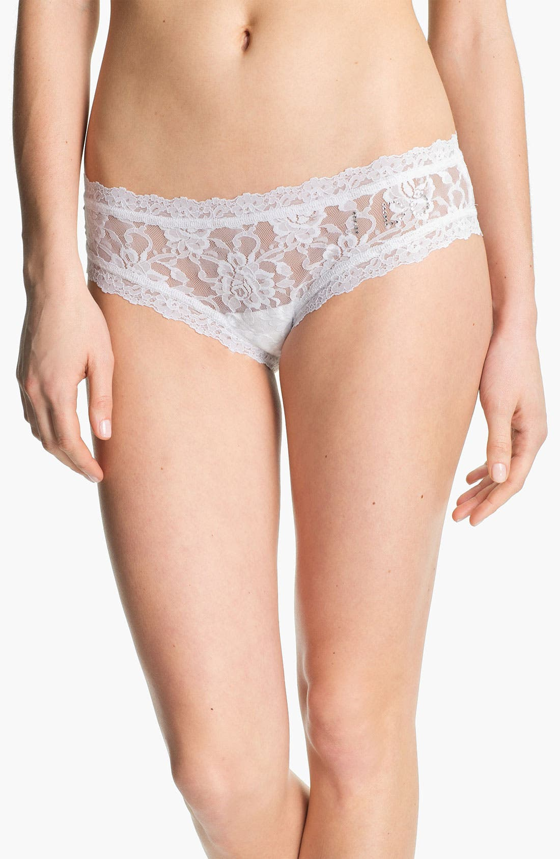 Alternate Image 1 Selected - Hanky Panky 'I Do' Swarovski Crystal Cheeky Hipster Briefs