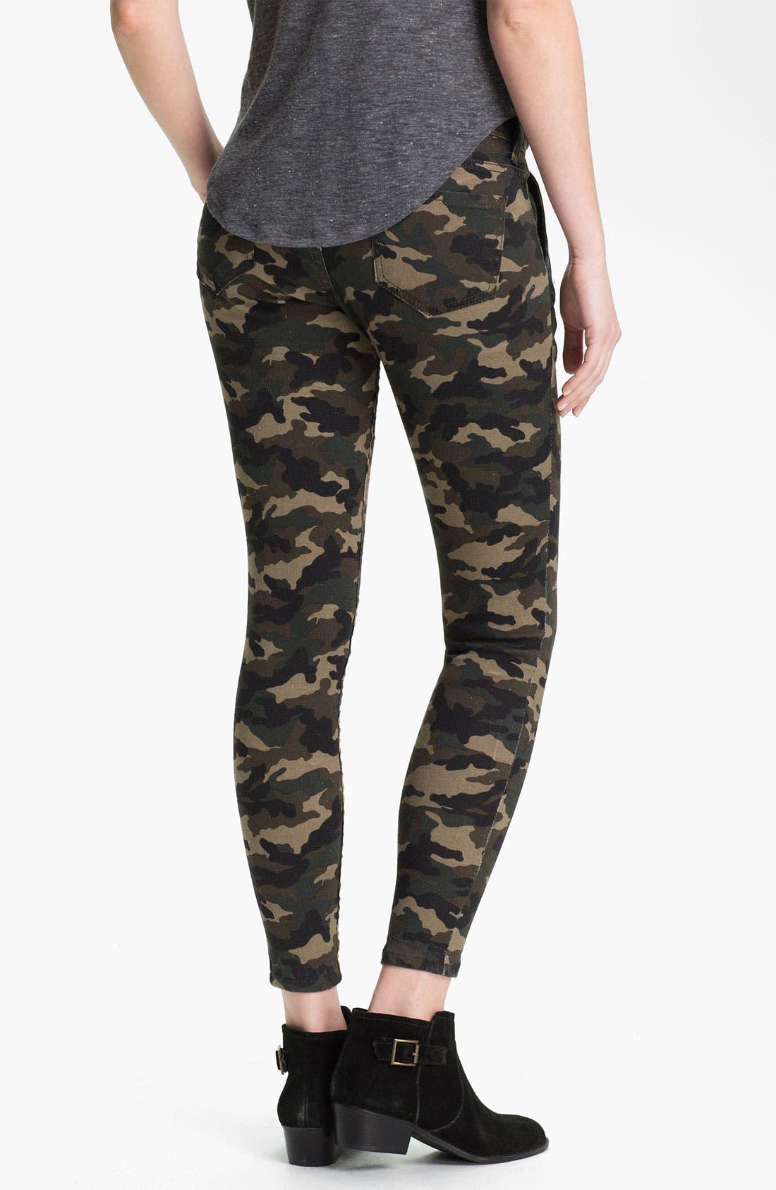 Alternate Image 3  - See Thru Soul Camo Print Skinny Pants (Juniors)