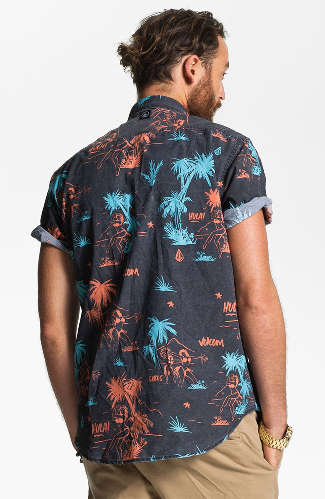 Alternate Image 3  - Volcom 'Mental Fun' Print Woven Shirt