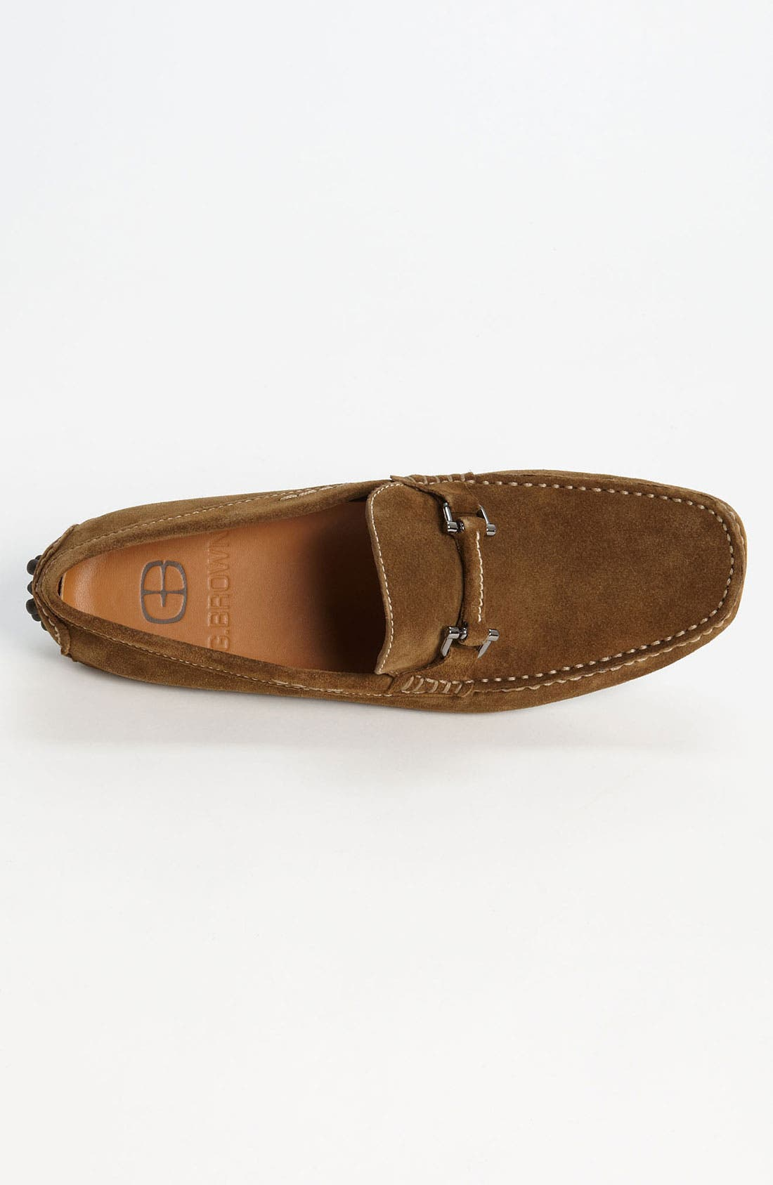 'Antigua' Driving Shoe,                             Alternate thumbnail 3, color,                             Tobacco Suede