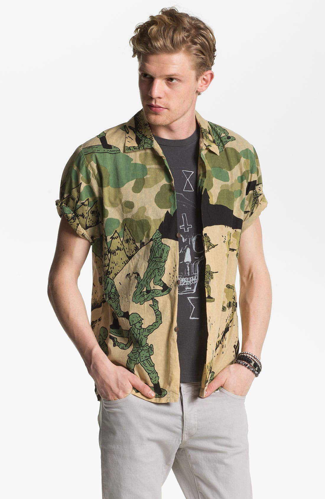 Alternate Image 1 Selected - Vanguard 'Toy Soldiers' Print Woven Shirt