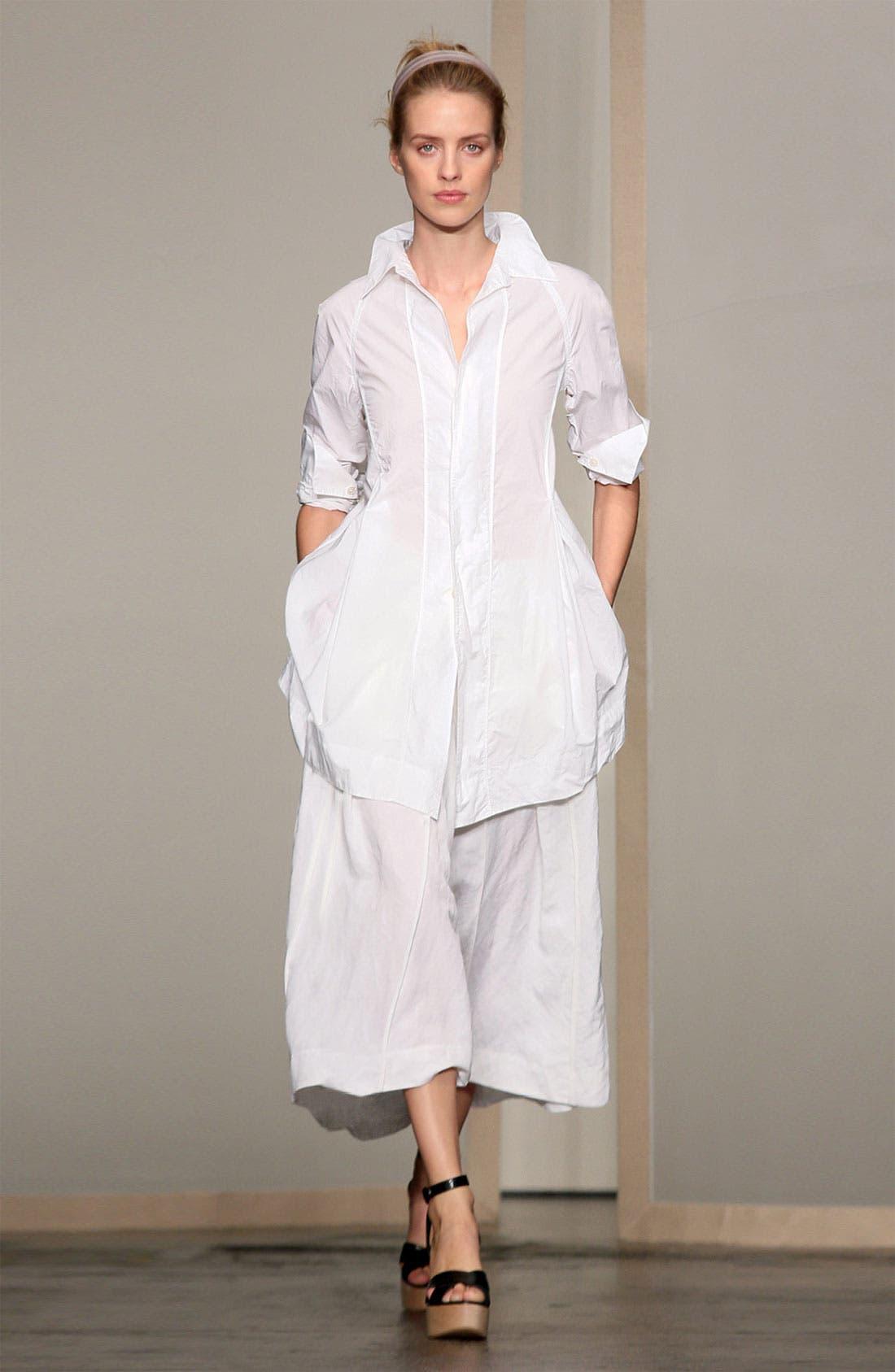 Alternate Image 4  - Donna Karan Collection Cotton Poplin Boyfriend Shirt