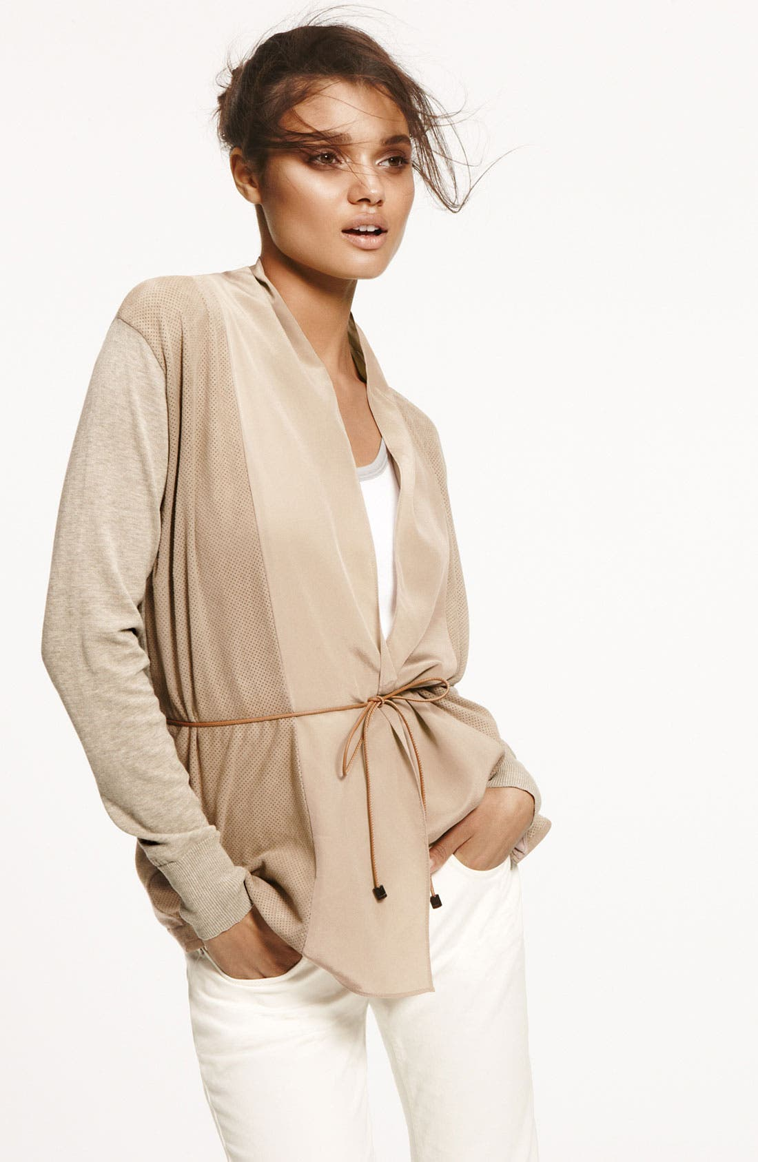 Alternate Image 4  - Fabiana Filippi Perforated Suede Cardigan