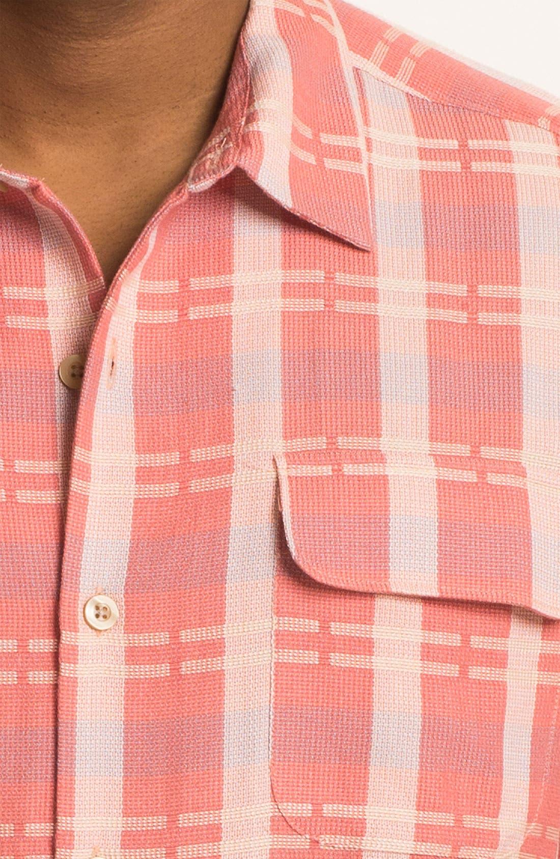 Alternate Image 3  - Tommy Bahama 'Plaid Modern' Silk & Cotton Sport Shirt