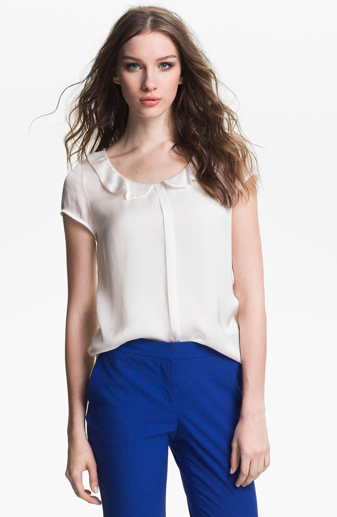 Alternate Image 1 Selected - Vince Camuto Lace Back Blouse