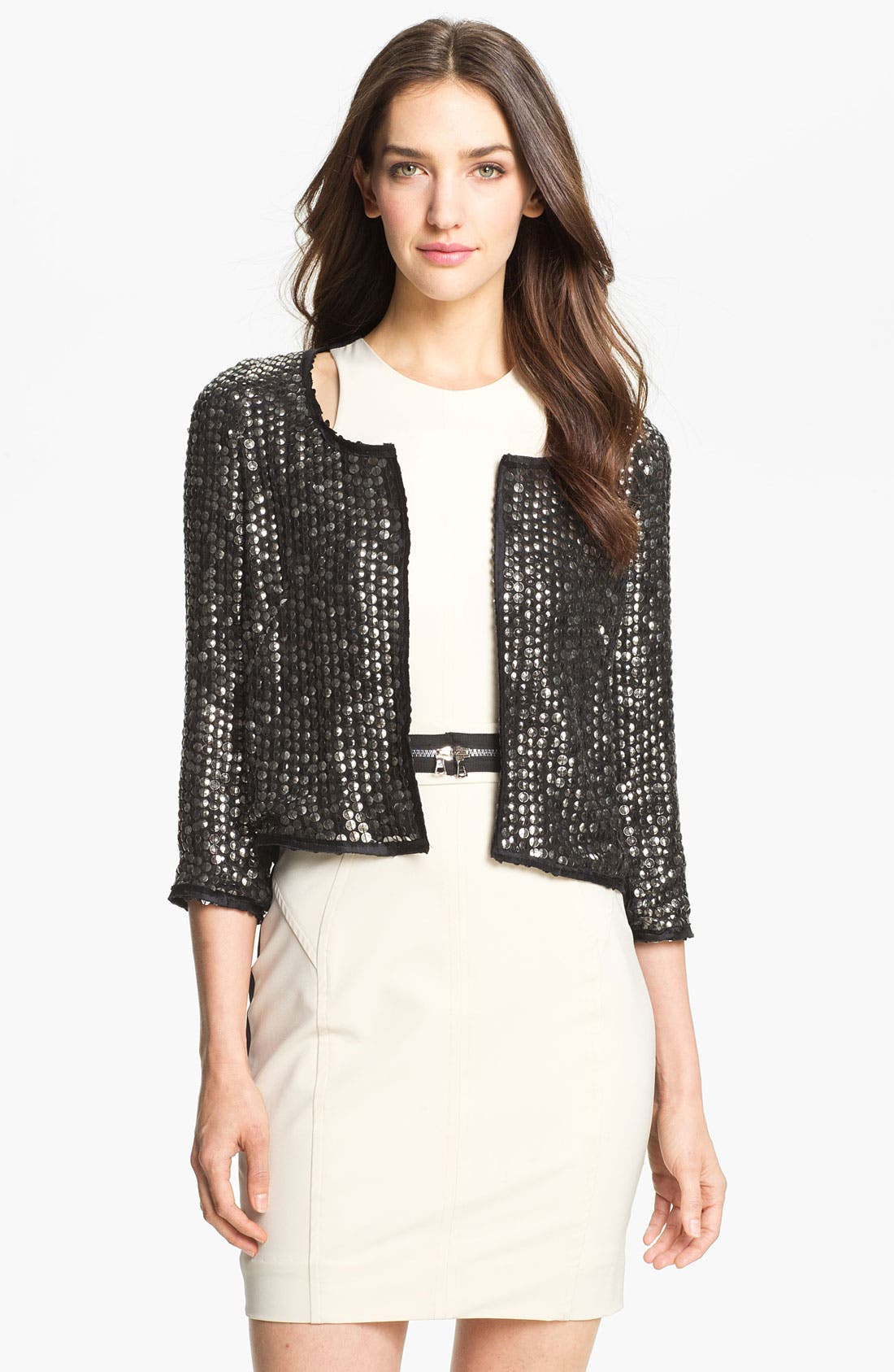 Alternate Image 1 Selected - Milly Embellished Silk Jacket