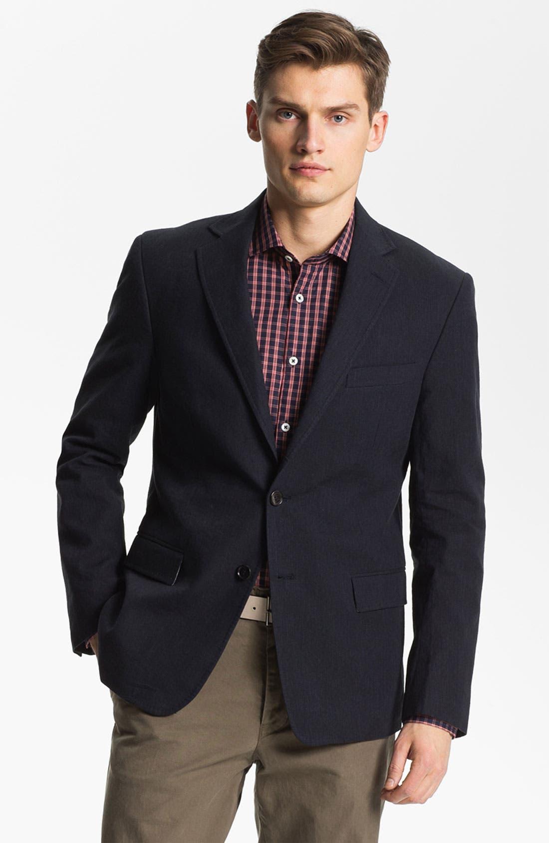 Main Image - Billy Reid 'Lexington' Cotton & Linen Blazer