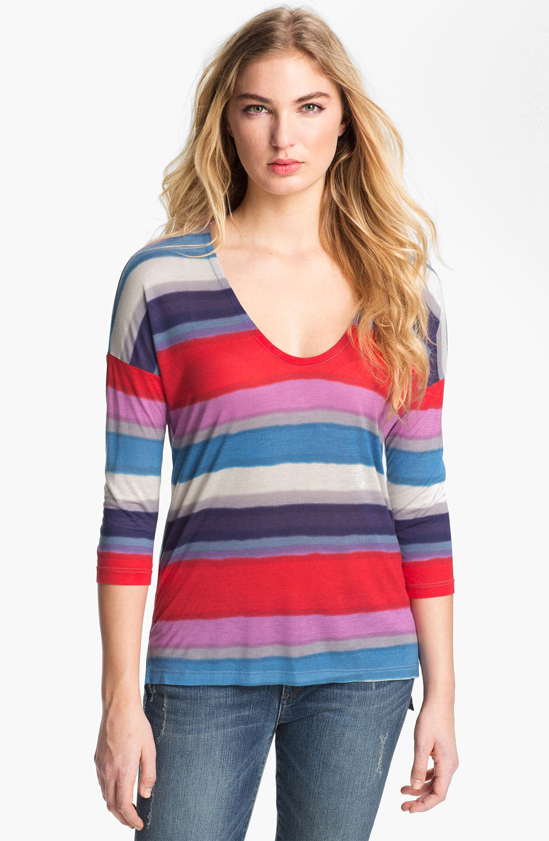 Main Image - Splendid Stripe Drop Shoulder Top