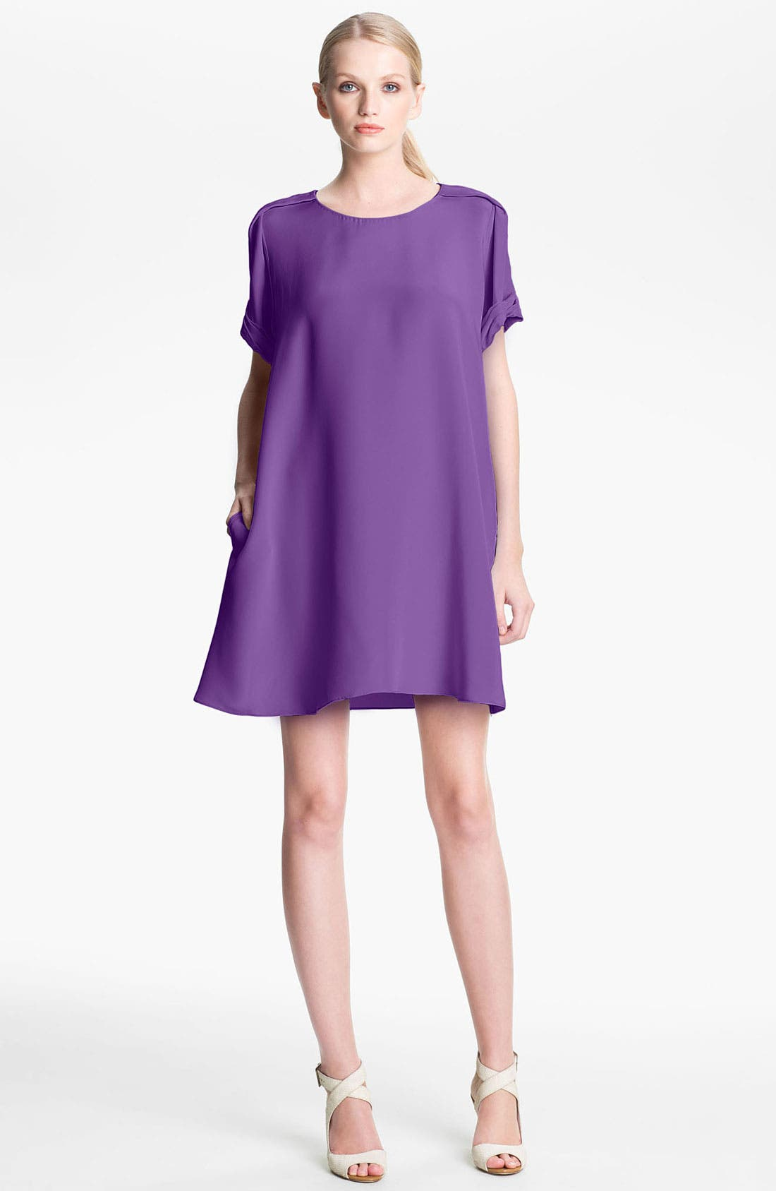 Alternate Image 1 Selected - 3.1 Phillip Lim Pleated Sleeve Silk Dress