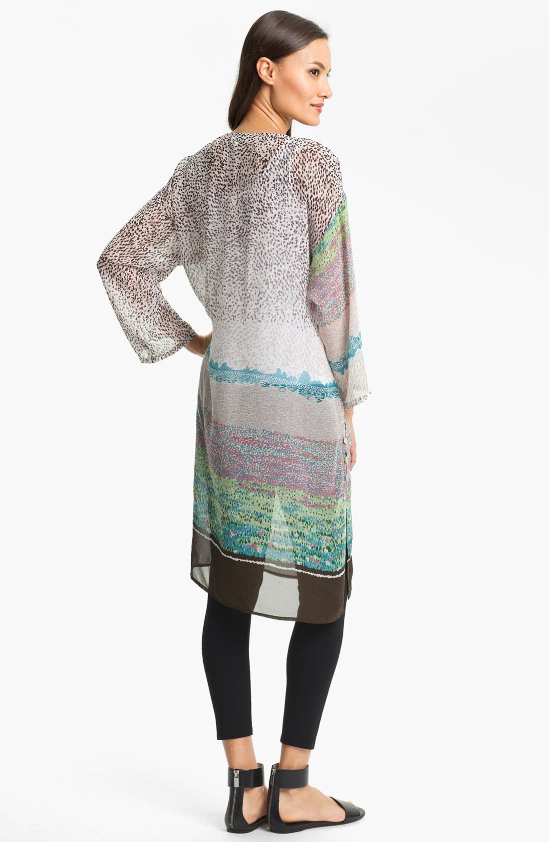 Alternate Image 2  - Citron Silk Tunic Dress with Tank