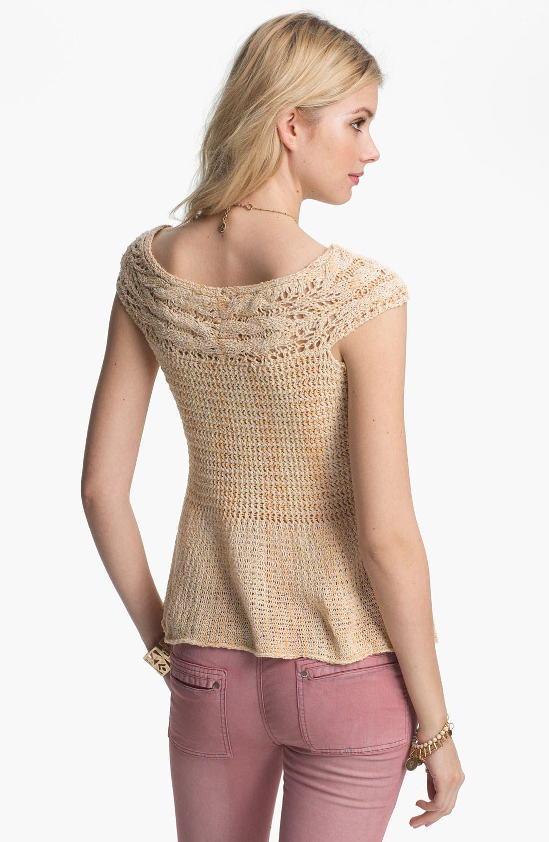 Alternate Image 2  - Free People 'Lollipop' Crochet Peplum Top