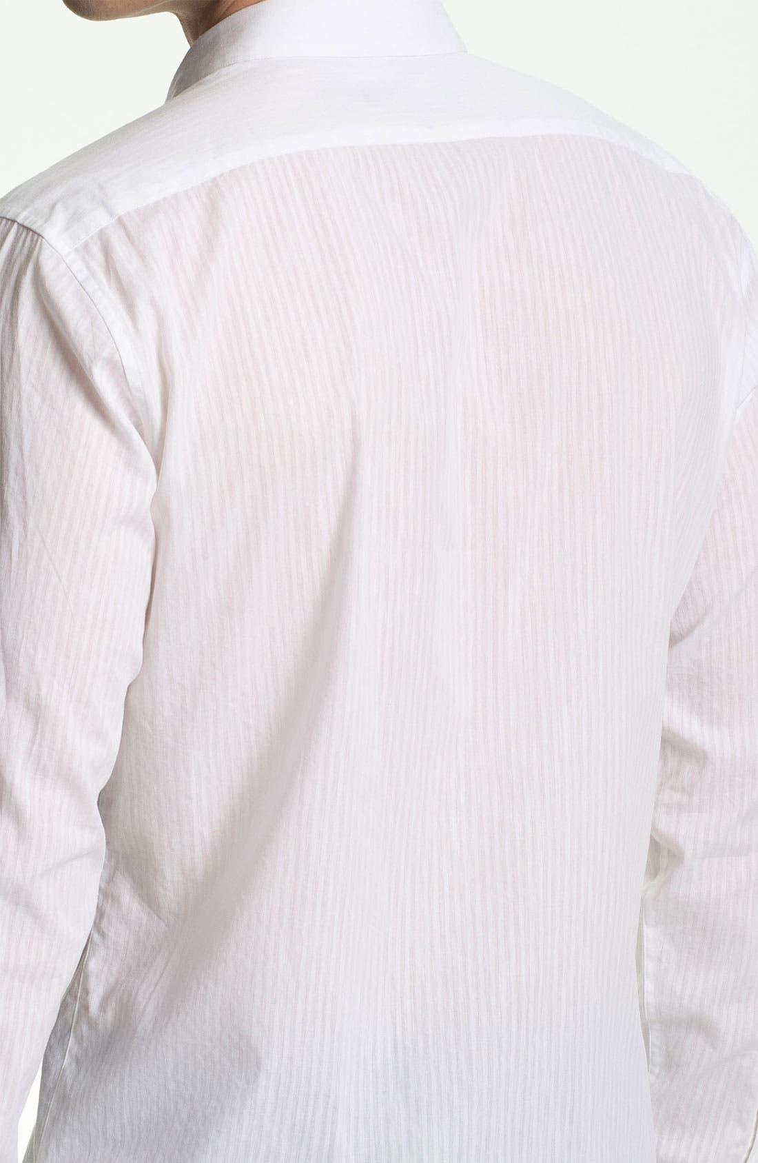 Alternate Image 3  - Theory 'Stephan S. Aldine' Trim Fit Cotton & Linen Sport Shirt