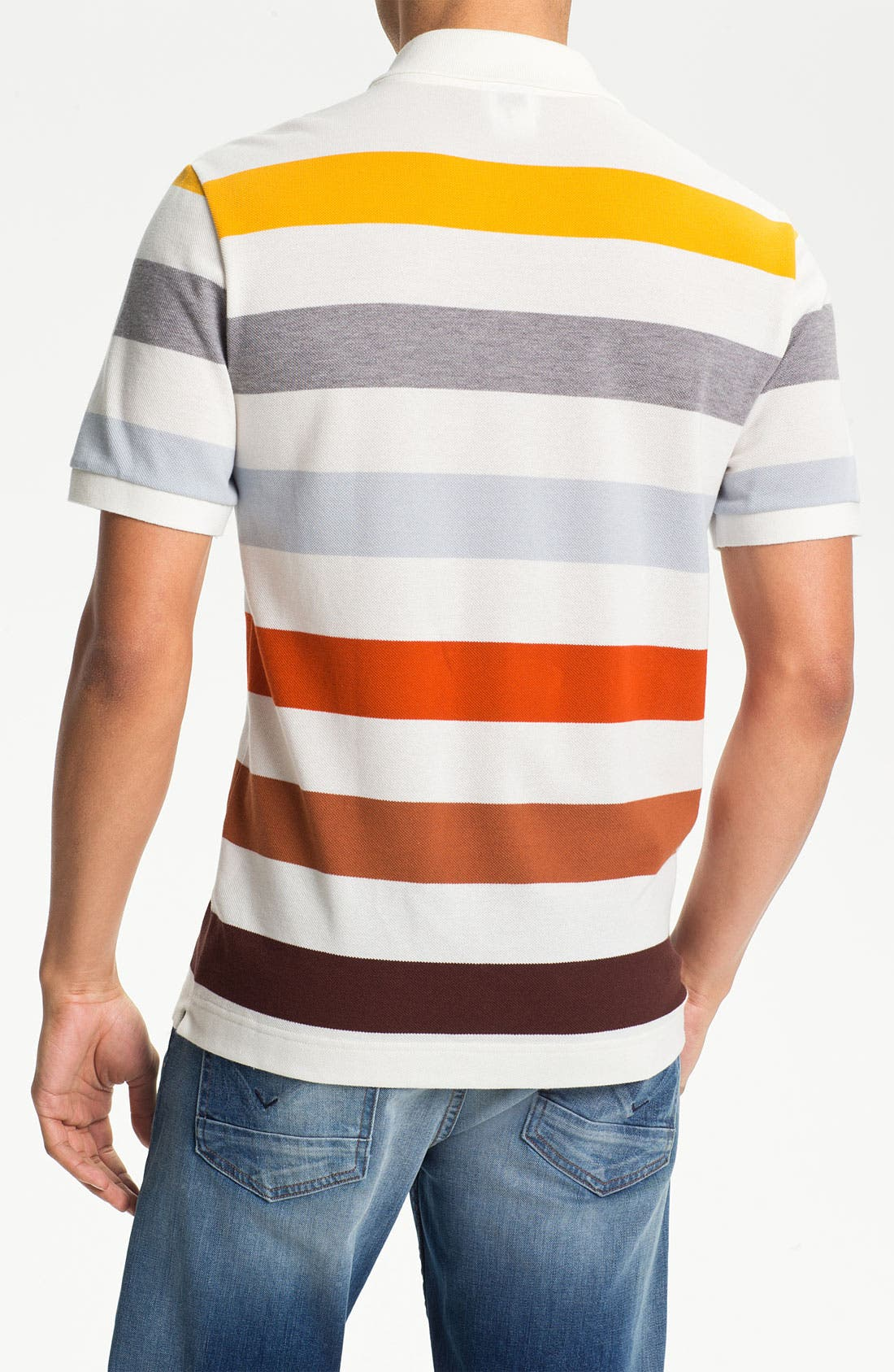 Alternate Image 2  - Lacoste Bar Stripe Piqué Polo