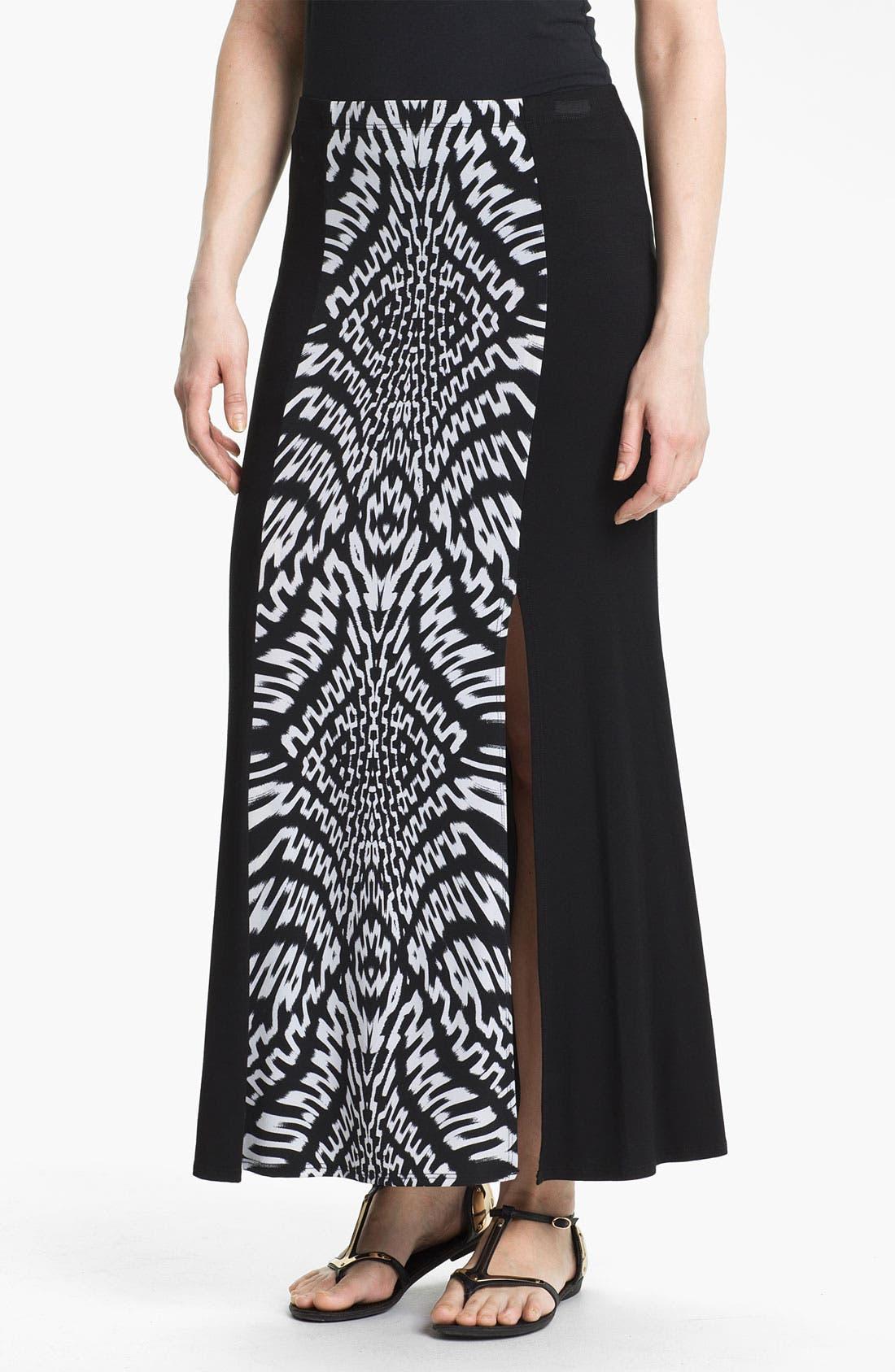 Alternate Image 1 Selected - Karen Kane Print Front Maxi Skirt