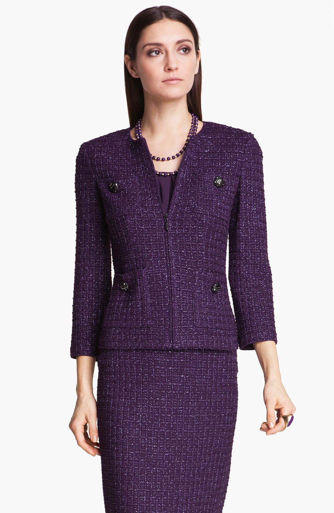 Alternate Image 1 Selected - St. John Collection Shimmer Tweed Jacket