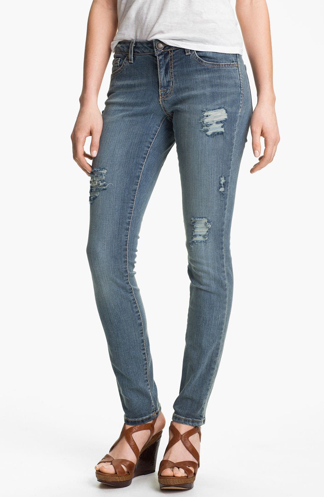 Alternate Image 2  - Jessica Simpson 'Kiss Me' Deconstructed Skinny Jeans (District) (Online Only)