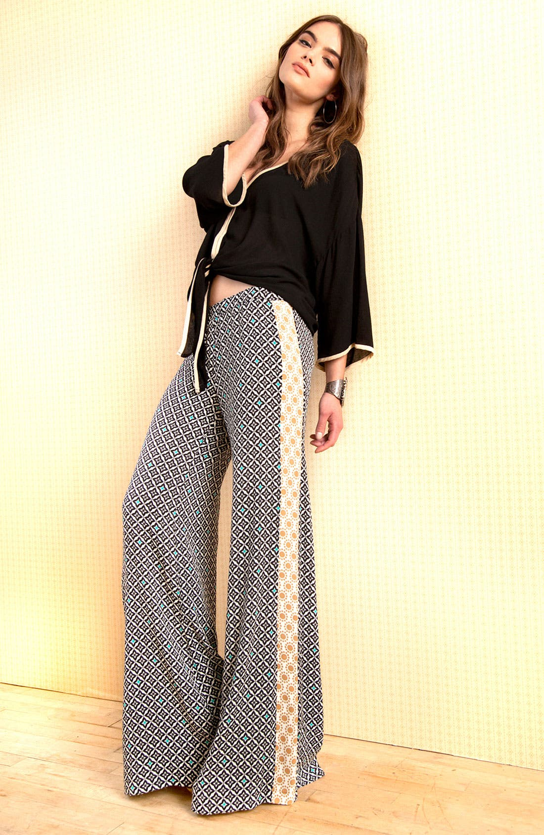 Alternate Image 5  - Ella Moss 'Sun Tile' Mix Print Palazzo Pants