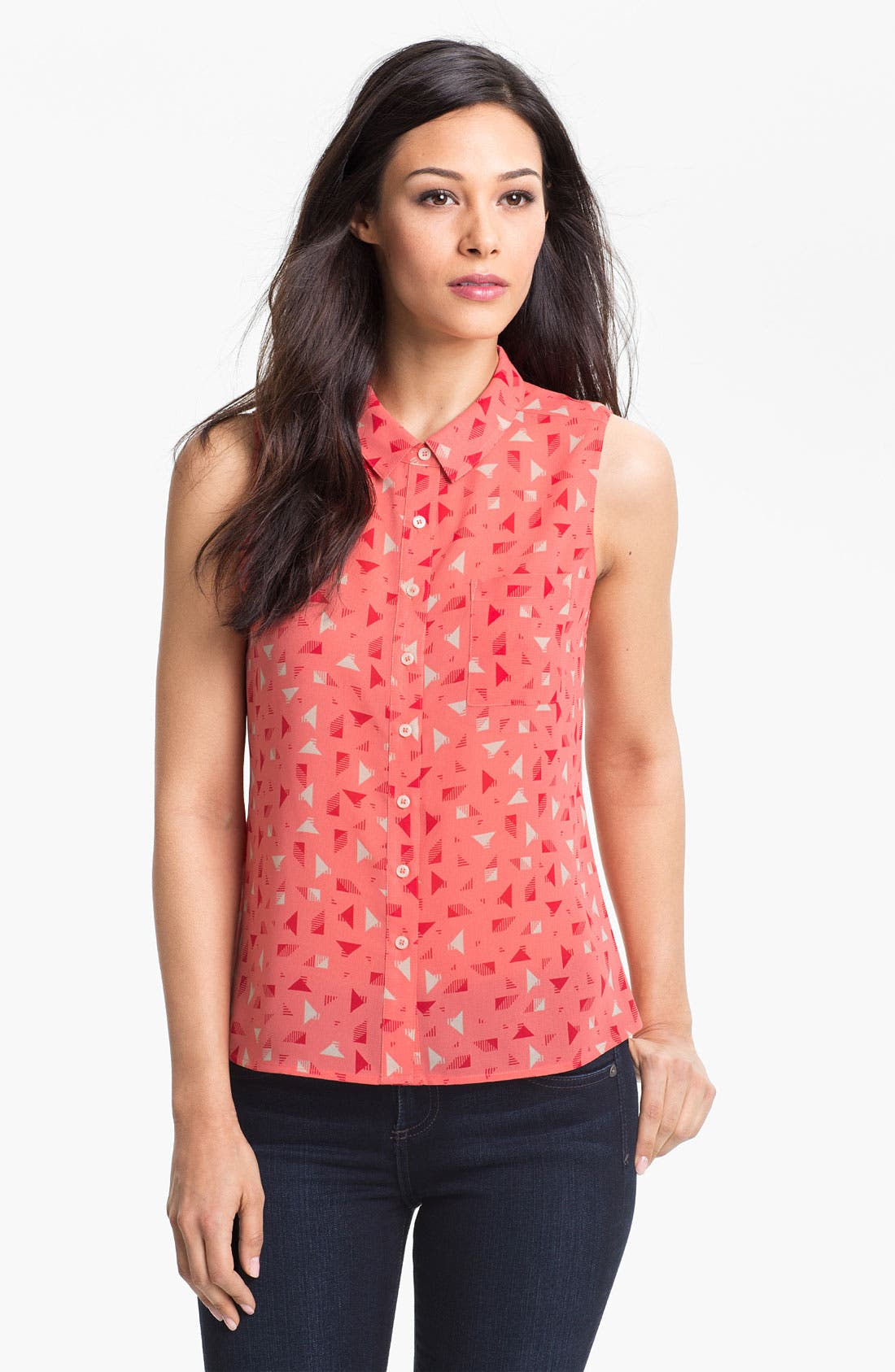 Alternate Image 1 Selected - Halogen® Sleeveless Shirt