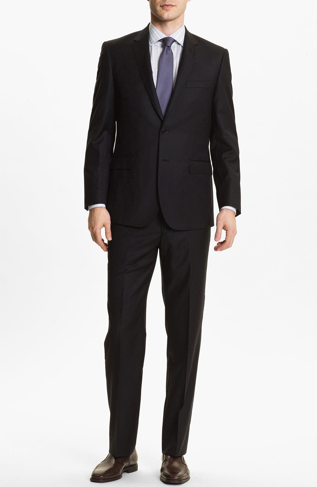 Alternate Image 2  - English Laundry Trim Fit Stripe Suit (Online Only)