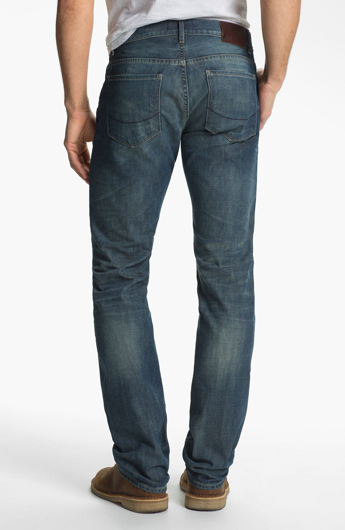 Alternate Image 1 Selected - PAIGE 'Normandie' Slim Straight Leg Jeans (Lowtide)