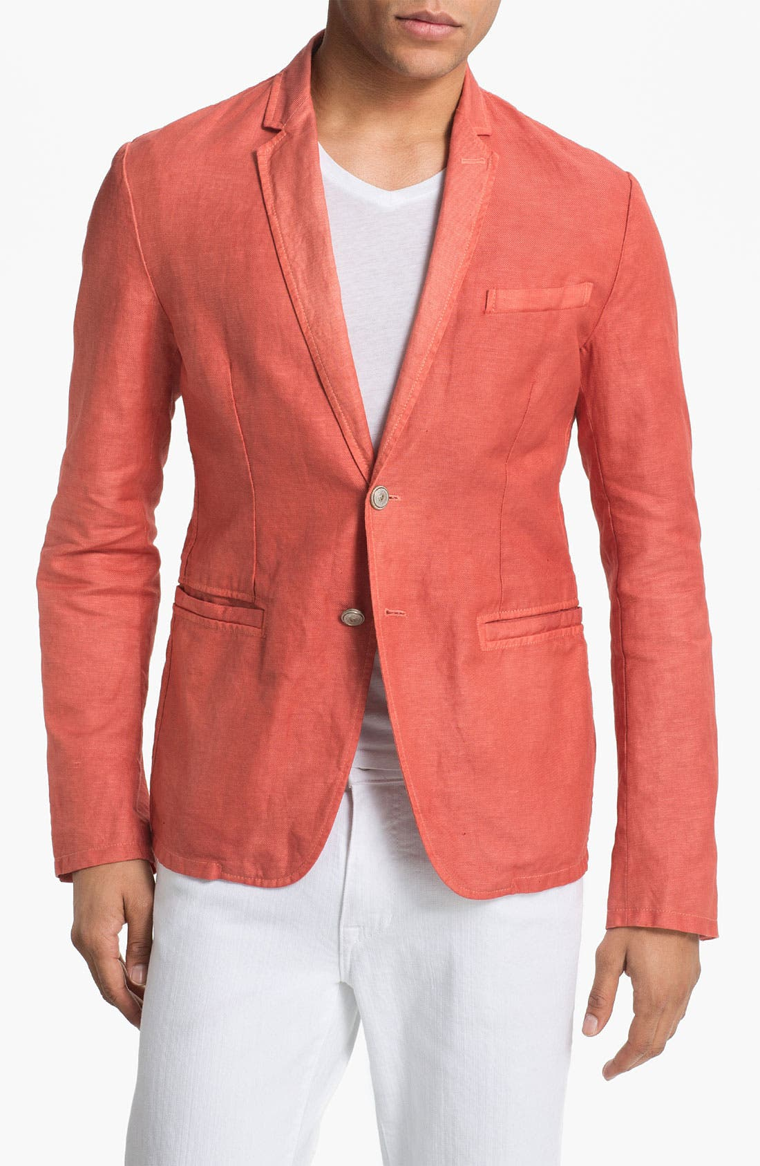 Alternate Image 1 Selected - Just Cavalli Cotton & Linen Blazer