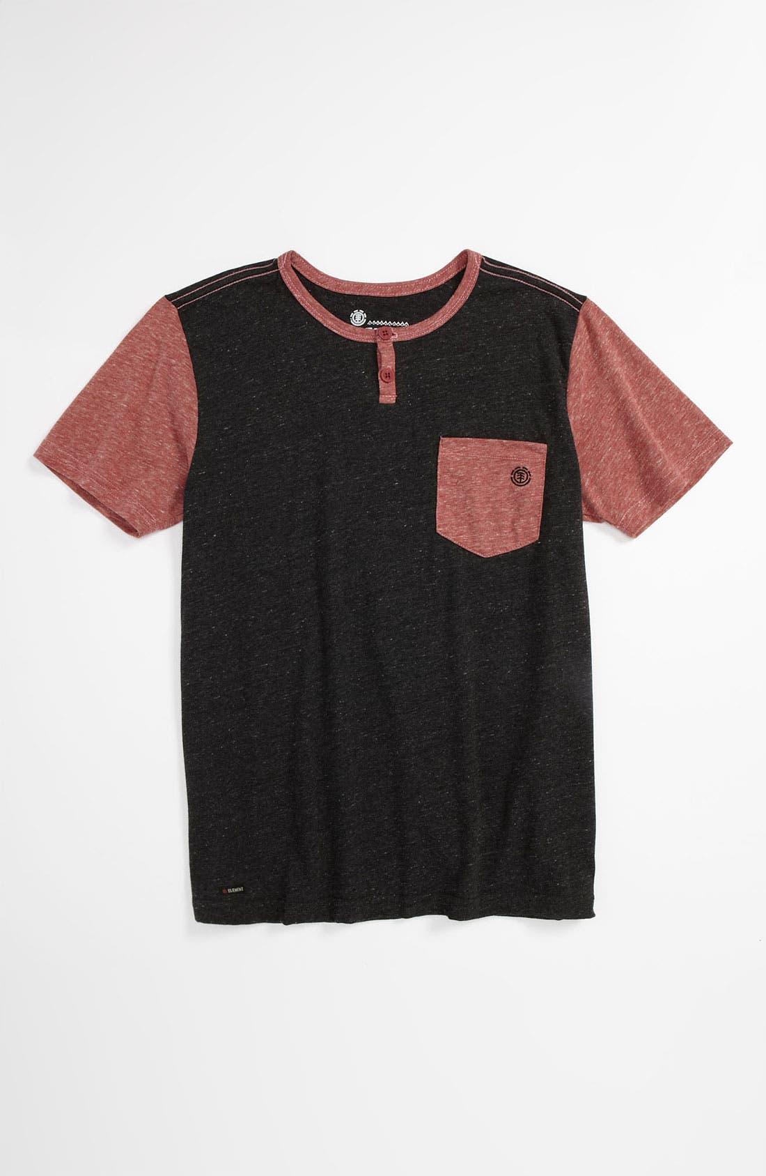 Alternate Image 1 Selected - Element 'Mason' Short Sleeve Henley T-Shirt (Big Boys)